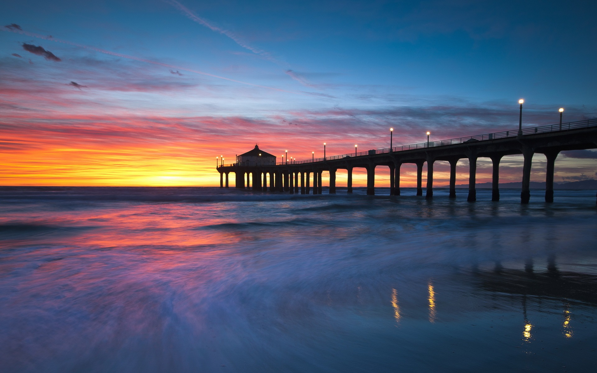 Sunset Beach (CA) United States  city photos : 米国、カリフォルニア州、マンハッタンビーチ ...