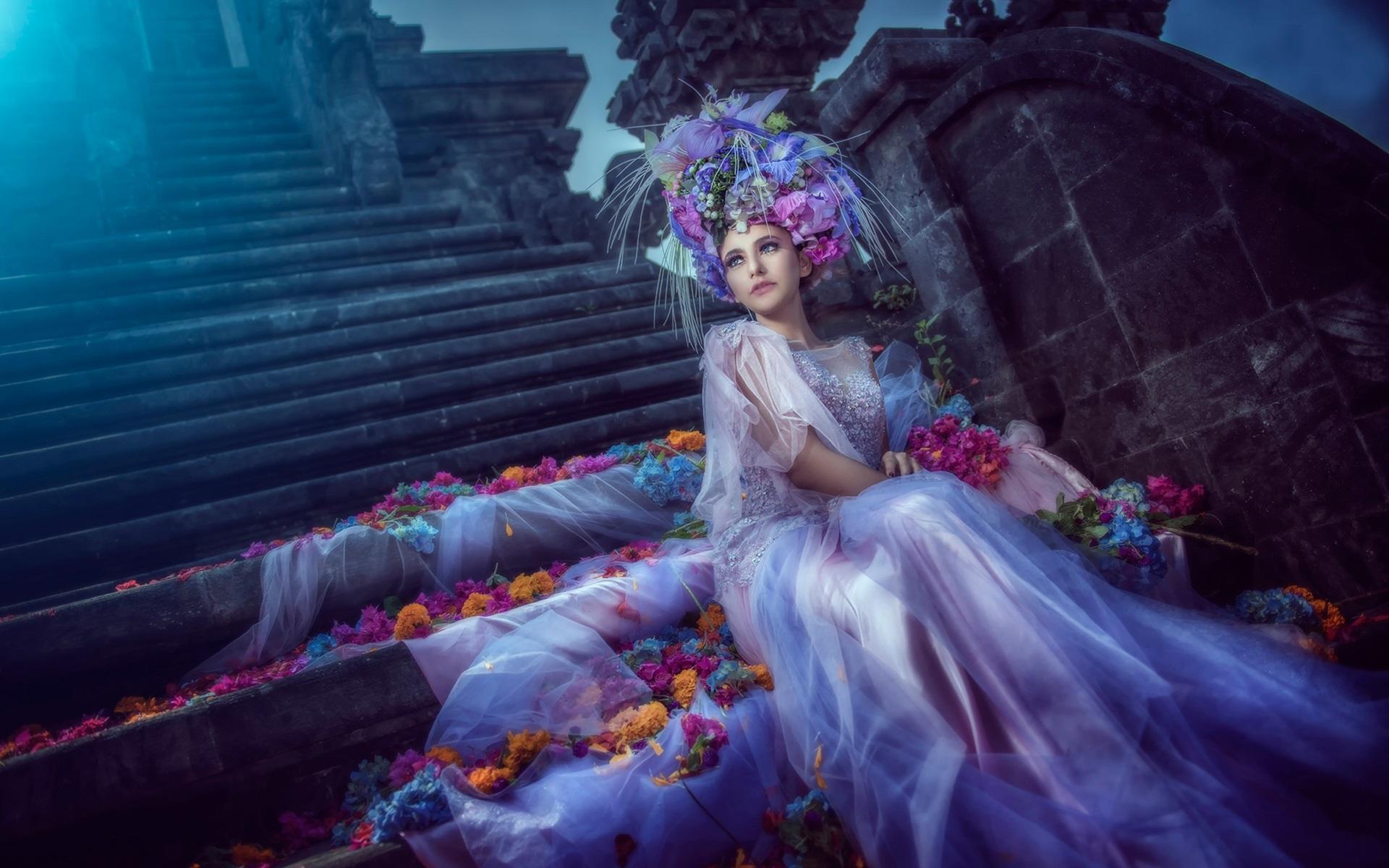 Fondos de pantalla Imágenes de arte, muchacha fantasía, novia ...