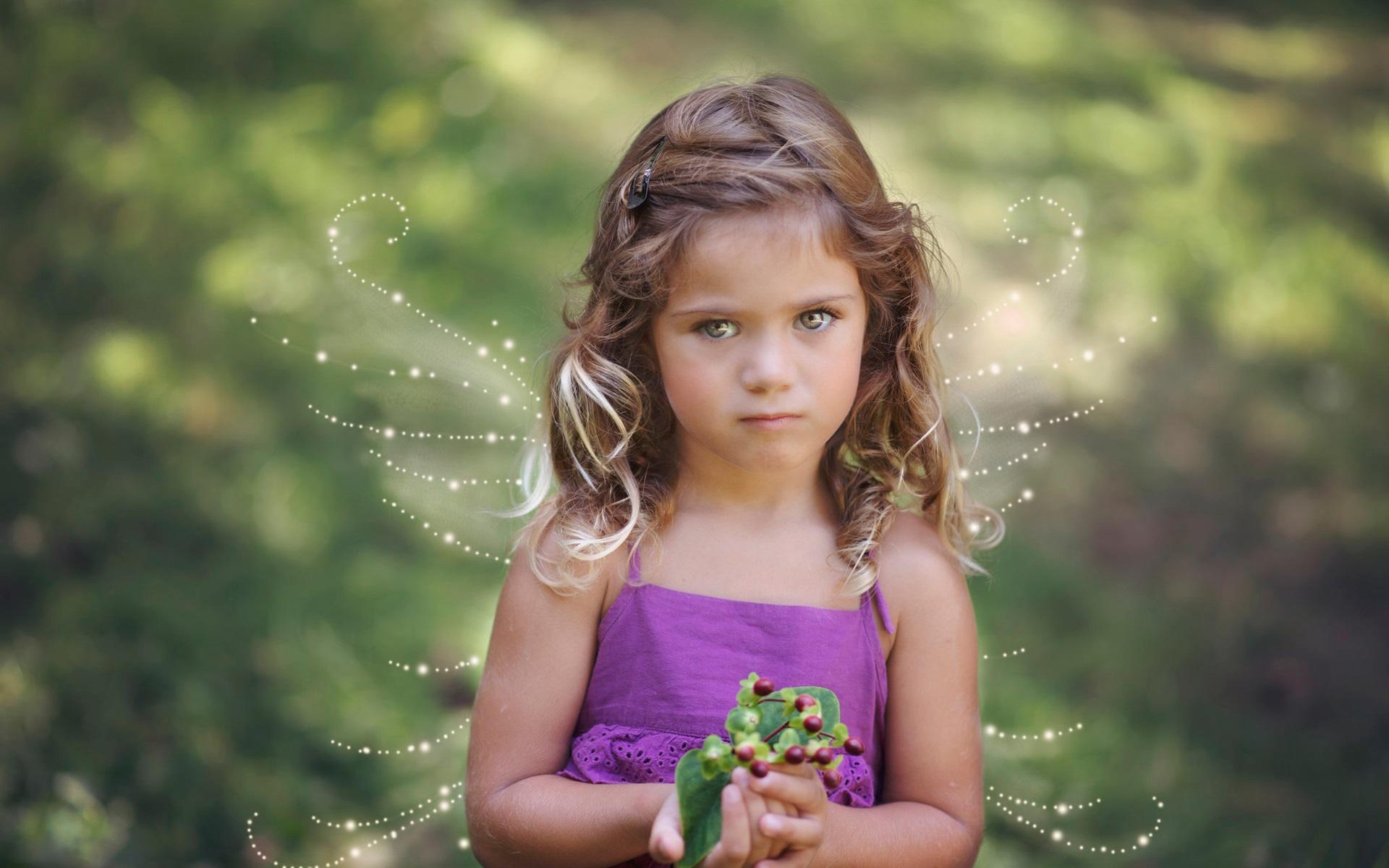 wallpaper cute little girl, wings, angel 1920x1200 hd picture, image