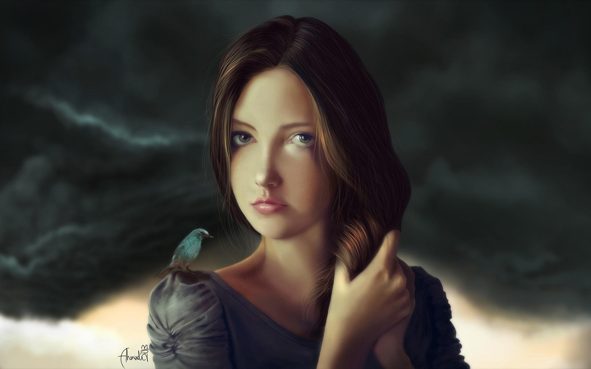 Blue Bird Face Paint