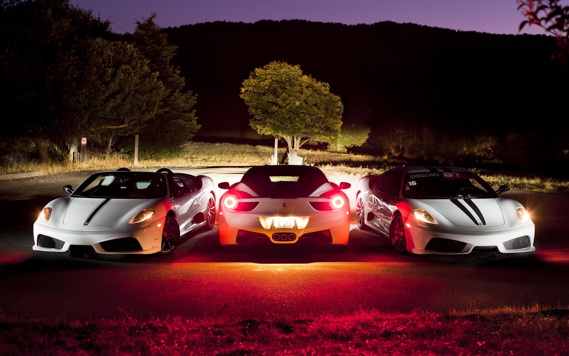 Fondos De Pantalla Ferrari F430 Supercar Blanco En La Noche