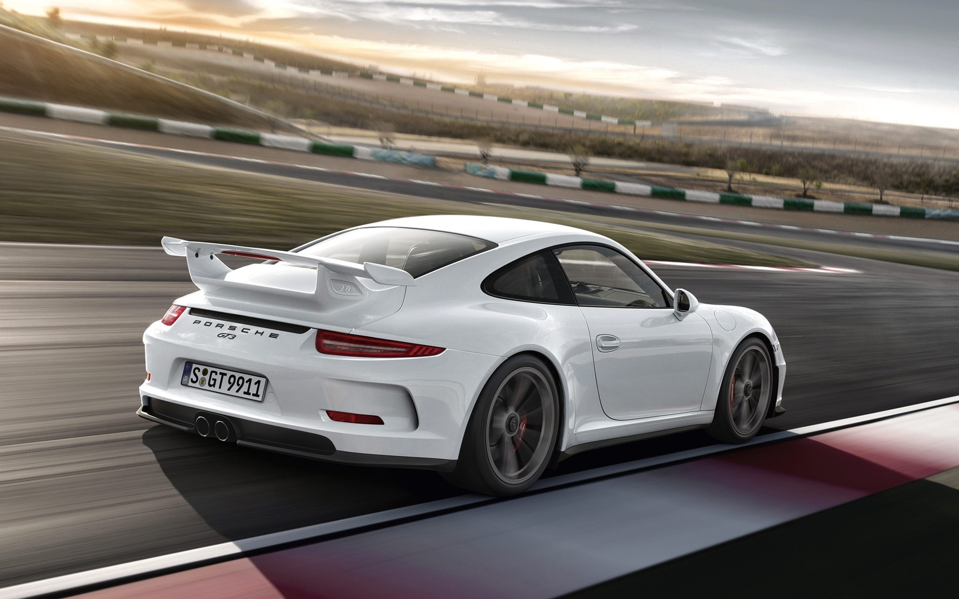 porsche 911 gt3 white car in the track wallpaper. Black Bedroom Furniture Sets. Home Design Ideas