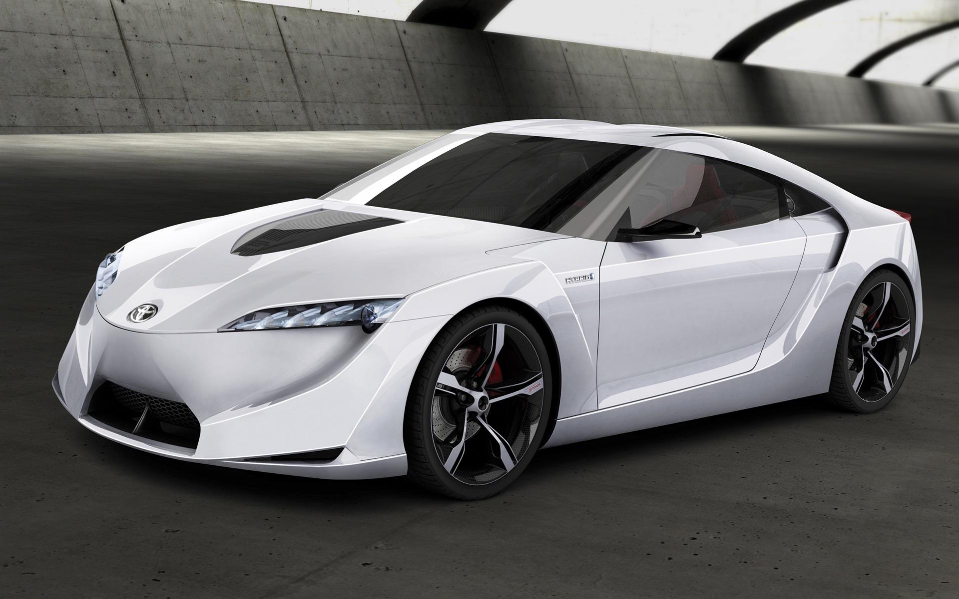 fonds d 39 cran t l charger 1920x1200 toyota ft hs concept de voiture blanche fond hd. Black Bedroom Furniture Sets. Home Design Ideas
