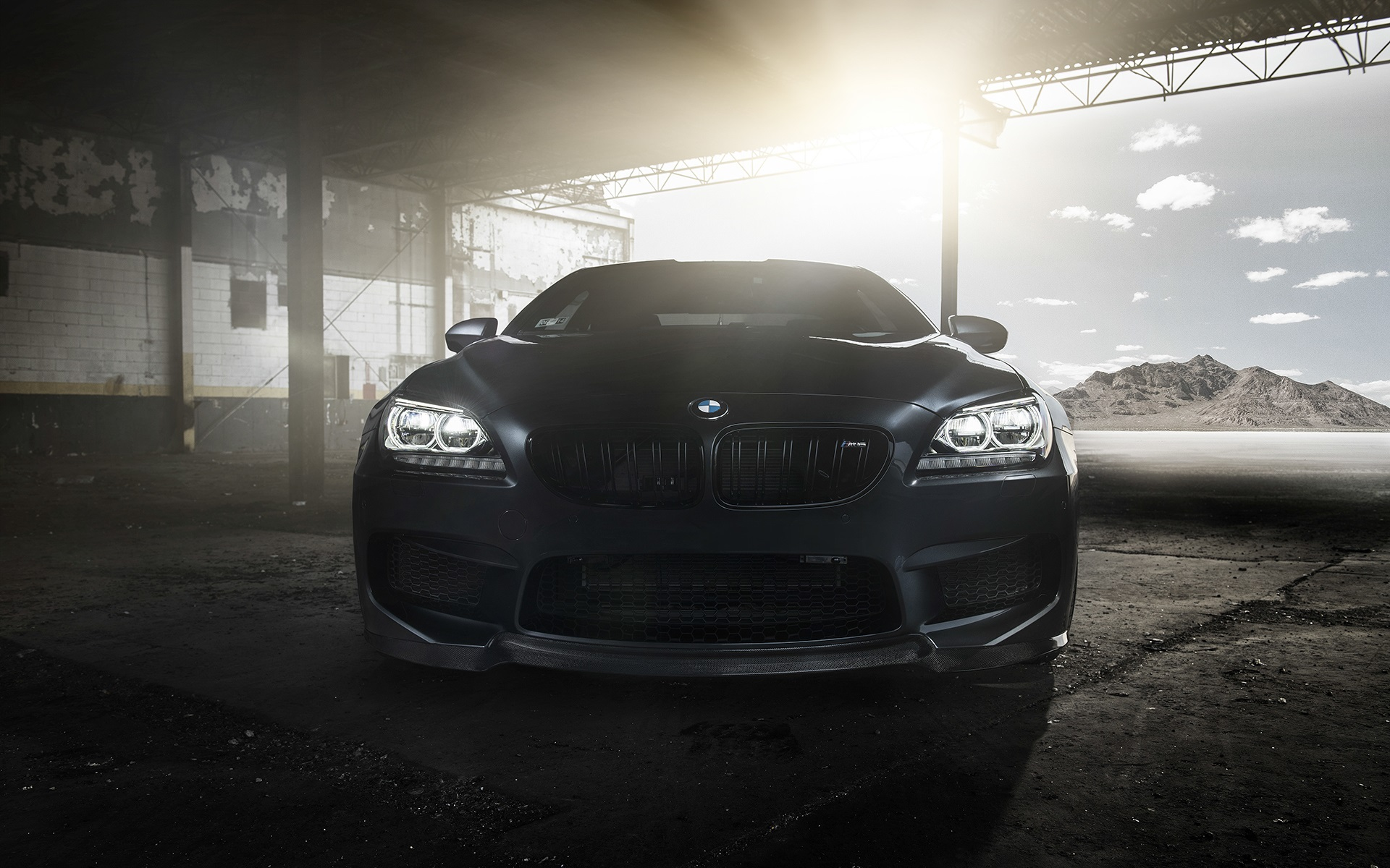Wallpaper Bmw M6 Coupe F13 Black Car Front View 1920x1200 Hd Picture Image