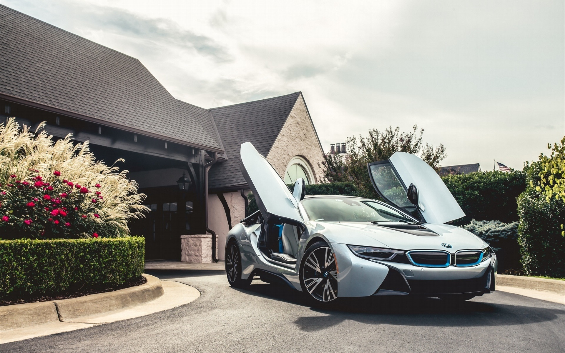bmw i8 silbernen elektro hybrid auto 1920x1200 hd. Black Bedroom Furniture Sets. Home Design Ideas