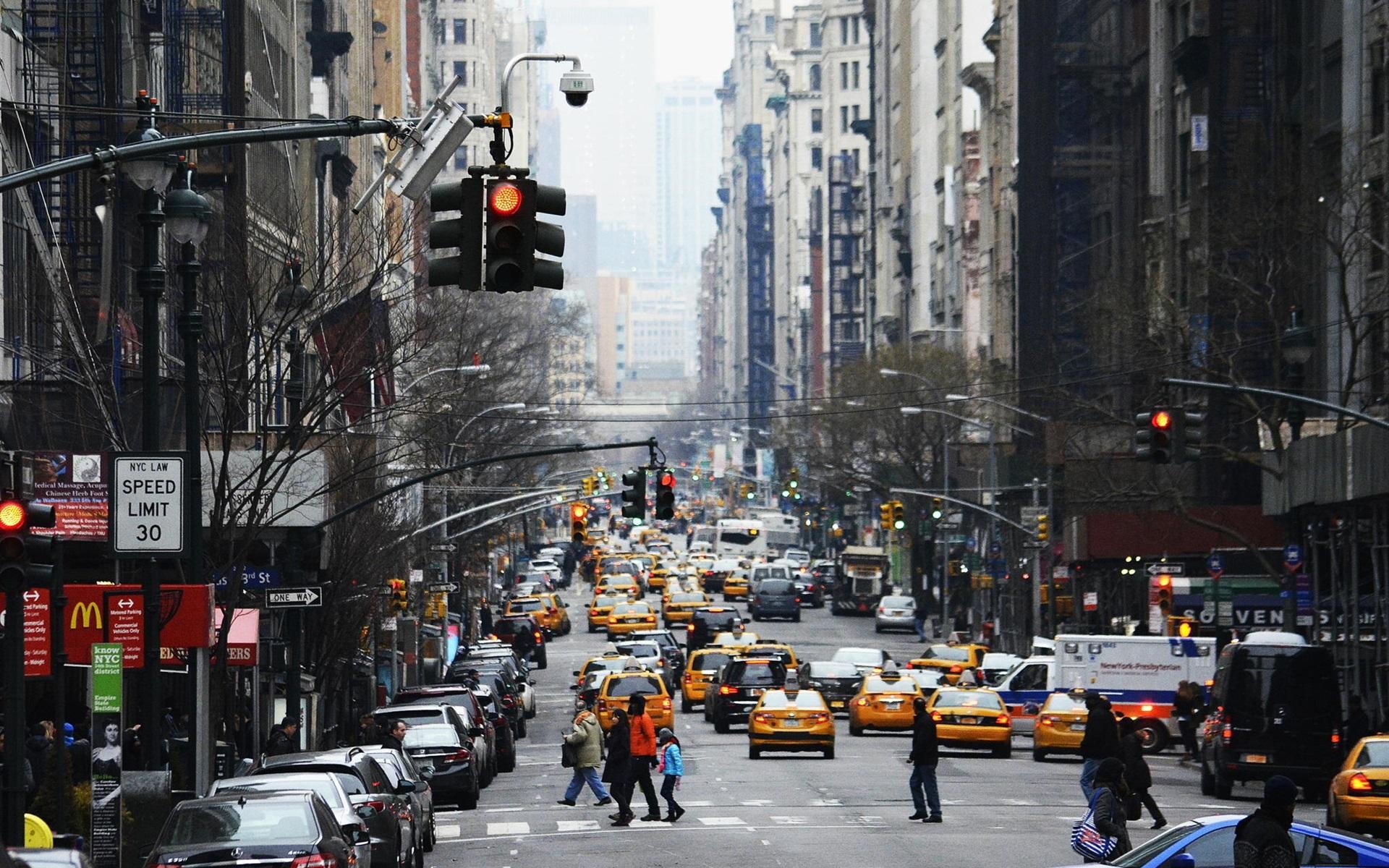 Обои new york city, машины, америка, улица, сша. Города foto 8