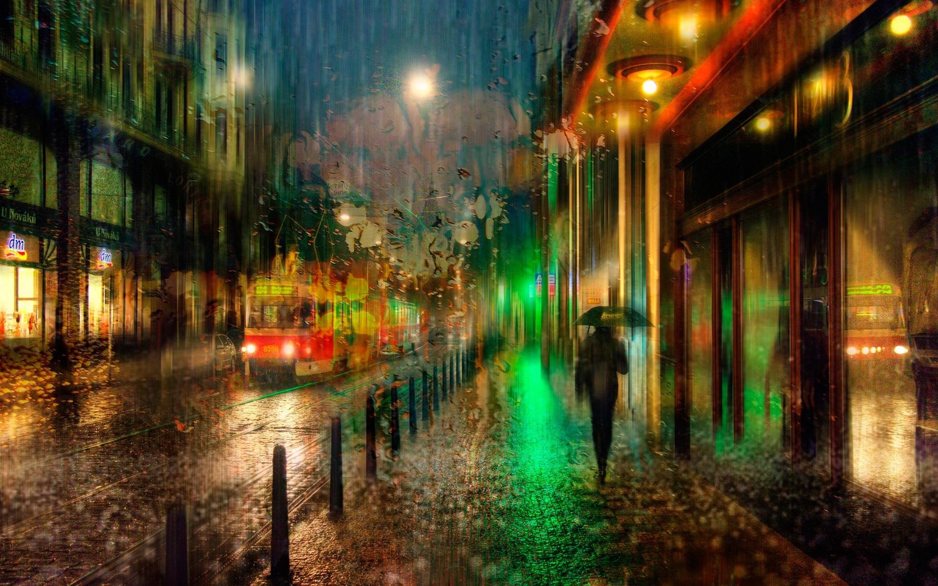 город ночь обои
