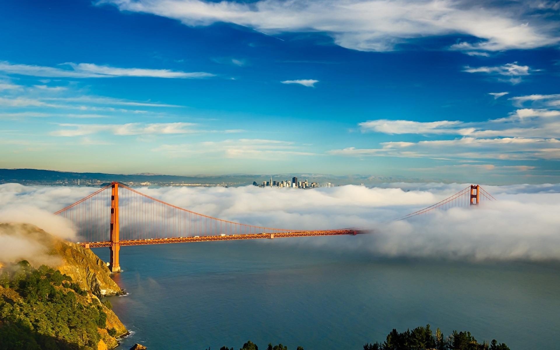 Обои Сан франциско, сша, Залив, облако, туман. Города foto 6