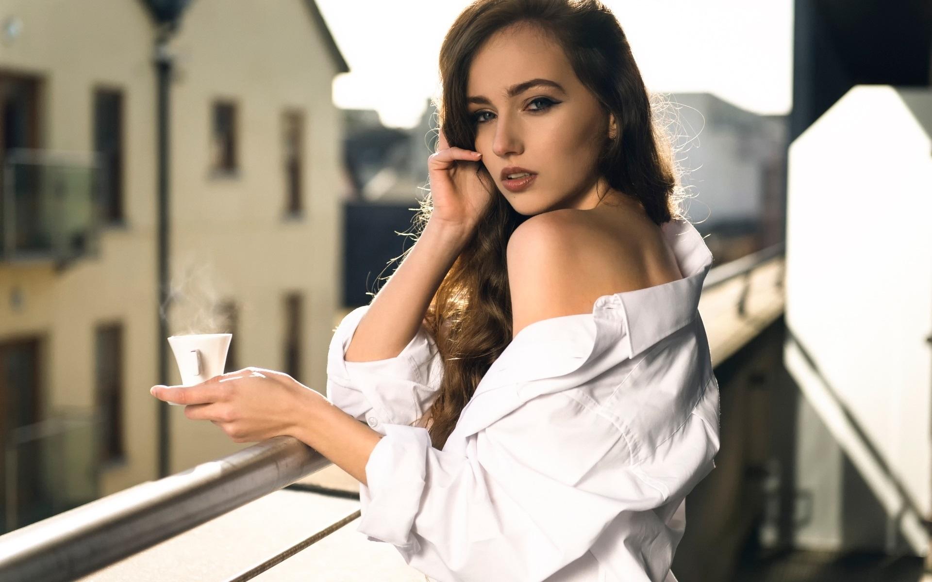Лучшие фотографии девушек в белой рубашке порно видео как