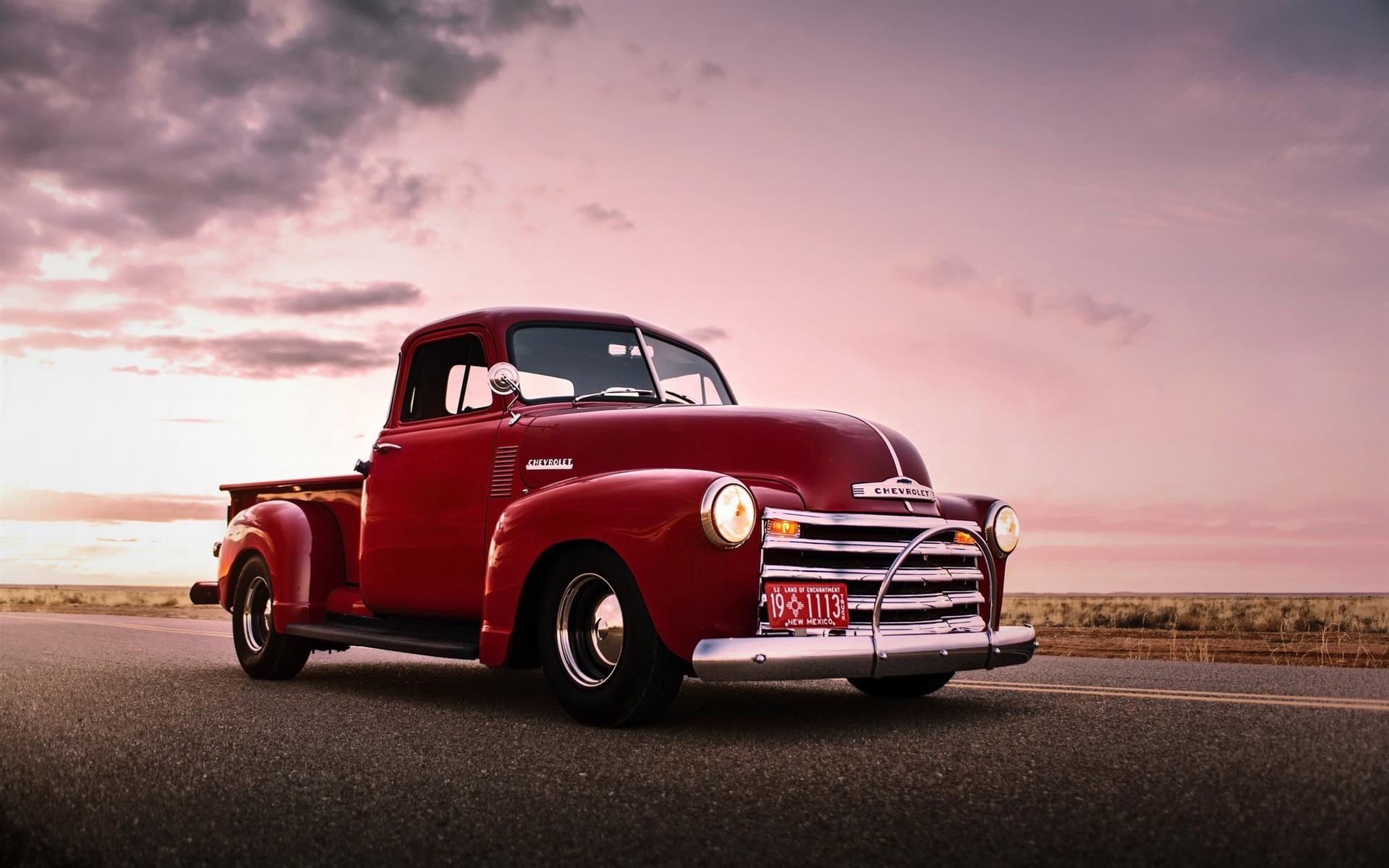 Chevrolet, red pickup, retro, old car Wallpaper | 1920x1200 resolution ...