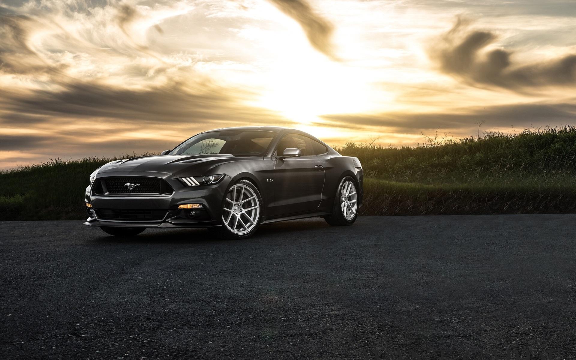 Wallpaper Ford Mustang 2015, black car, dusk 1920x1200 HD ...