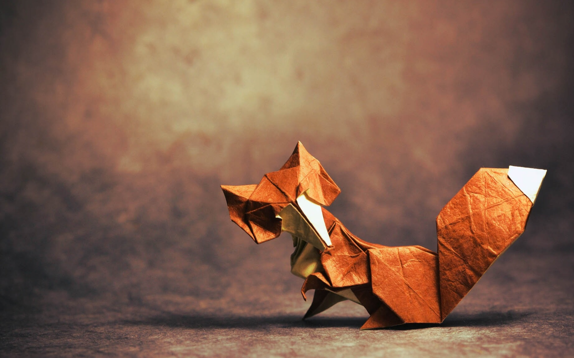 wallpaper origami art, fox 1920x1200 hd picture, image