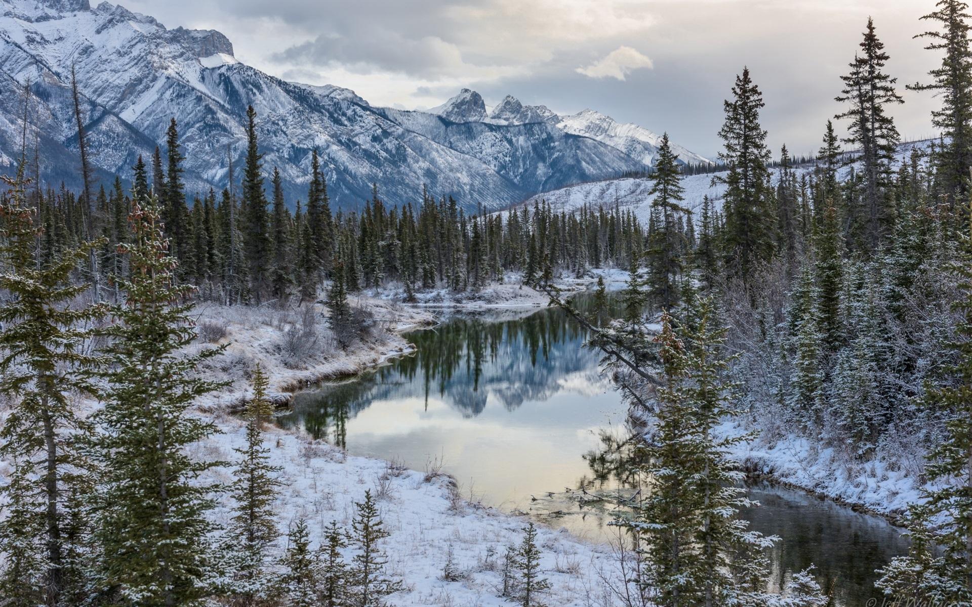 Wallpaper Canadian Rockies Jasper National Park Alberta Canada