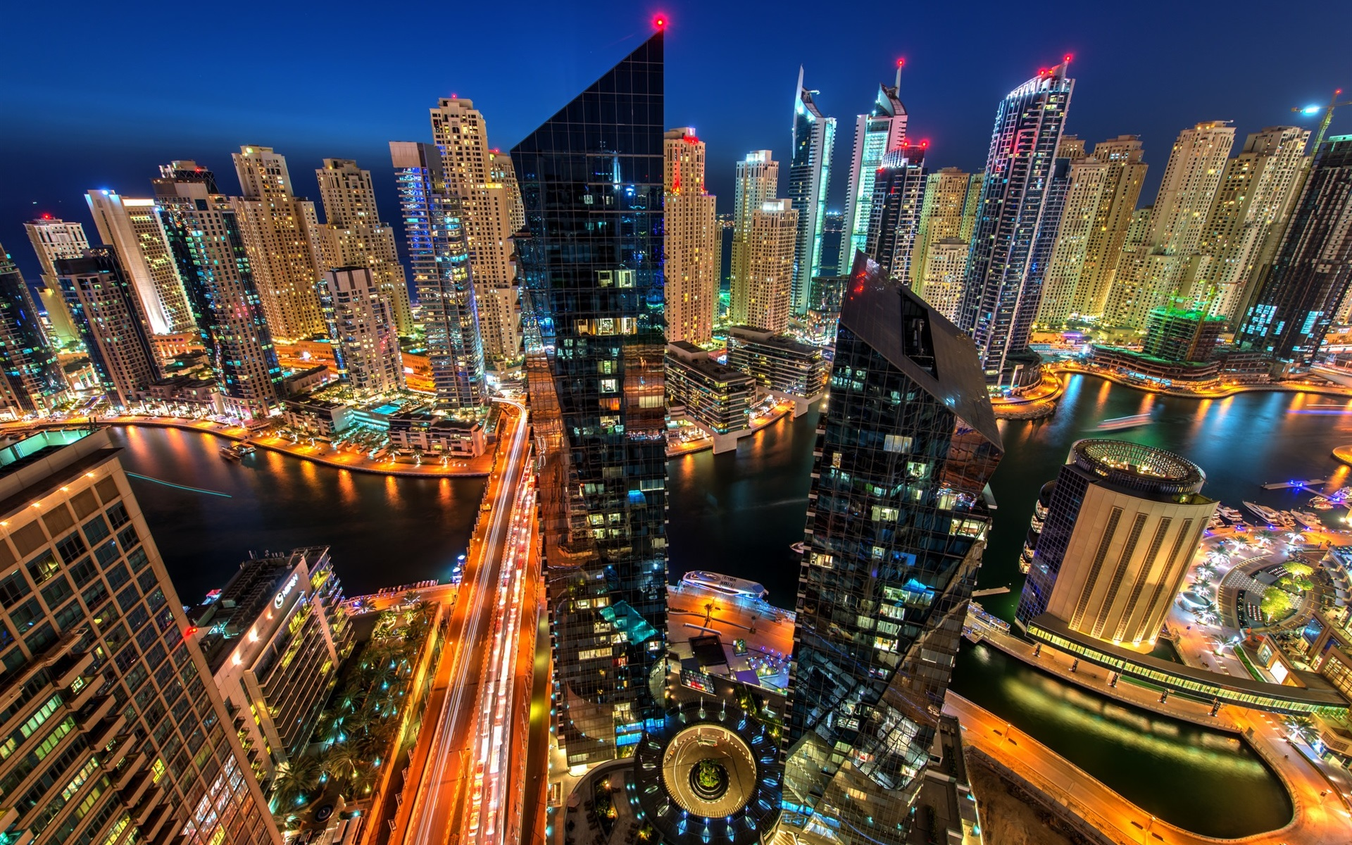 wallpaper dubai marina, dubai, uae, city, evening, buildings