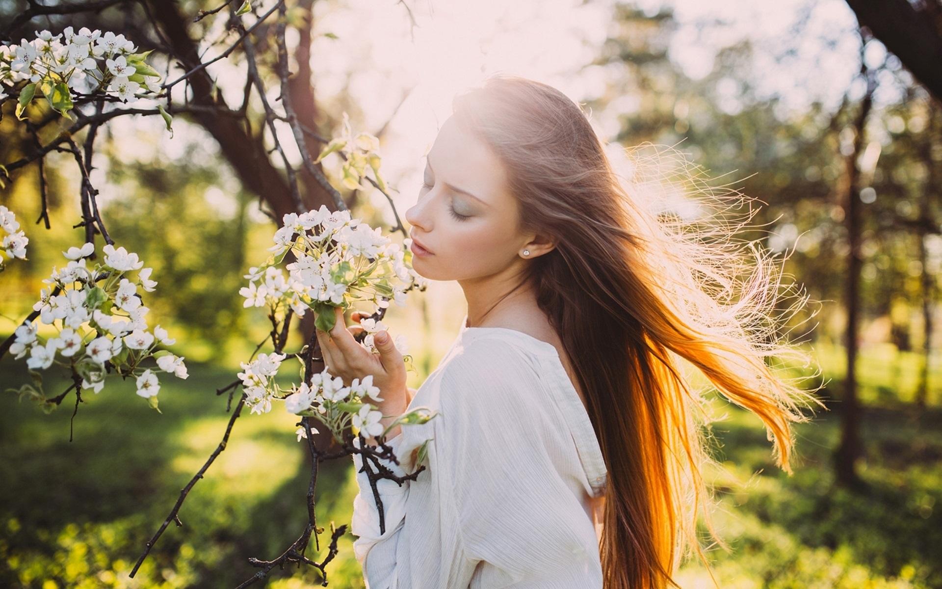 Весна и девушка картинки на рабочий стол