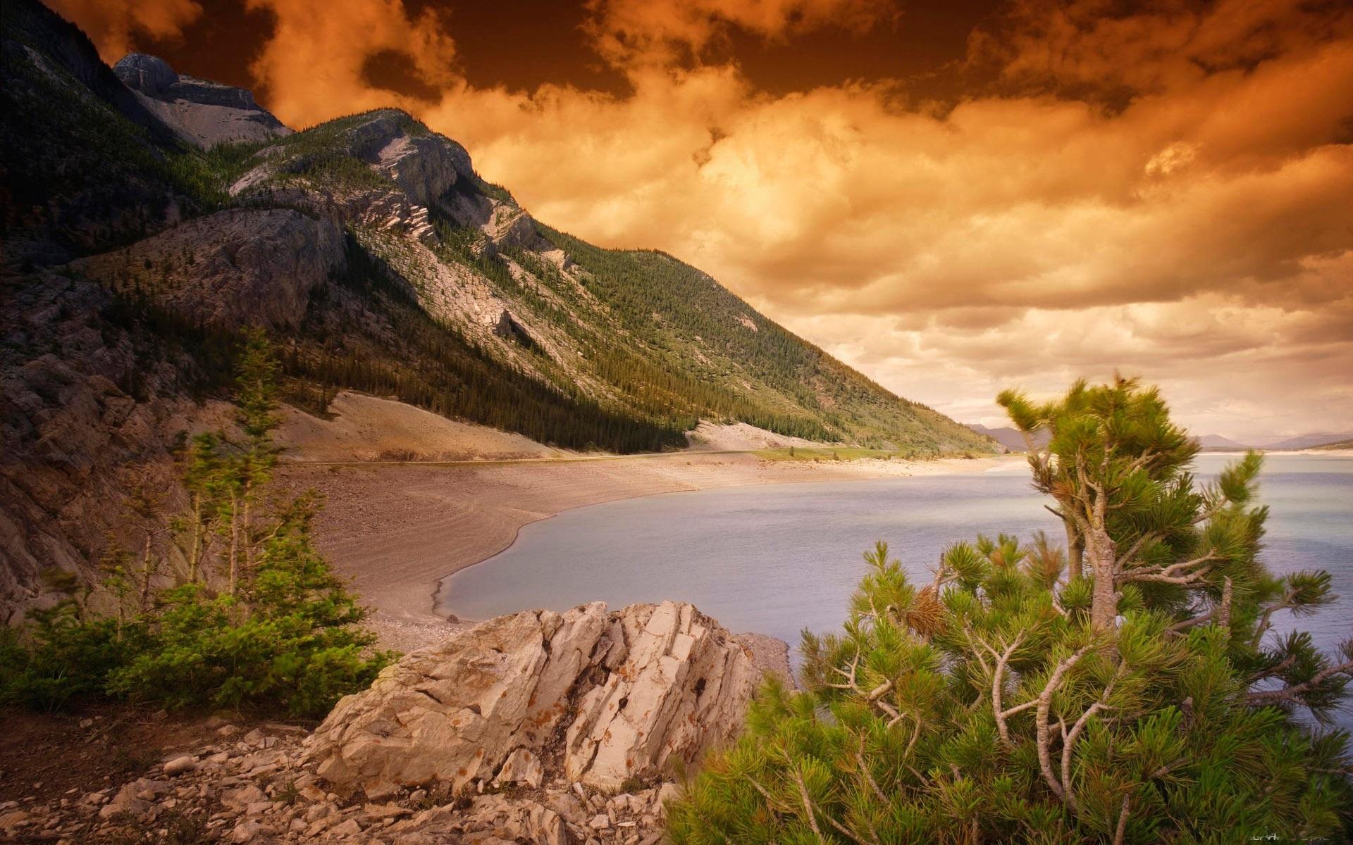 виды, натуральные фотоэффекты на море в горах уже влюбилась