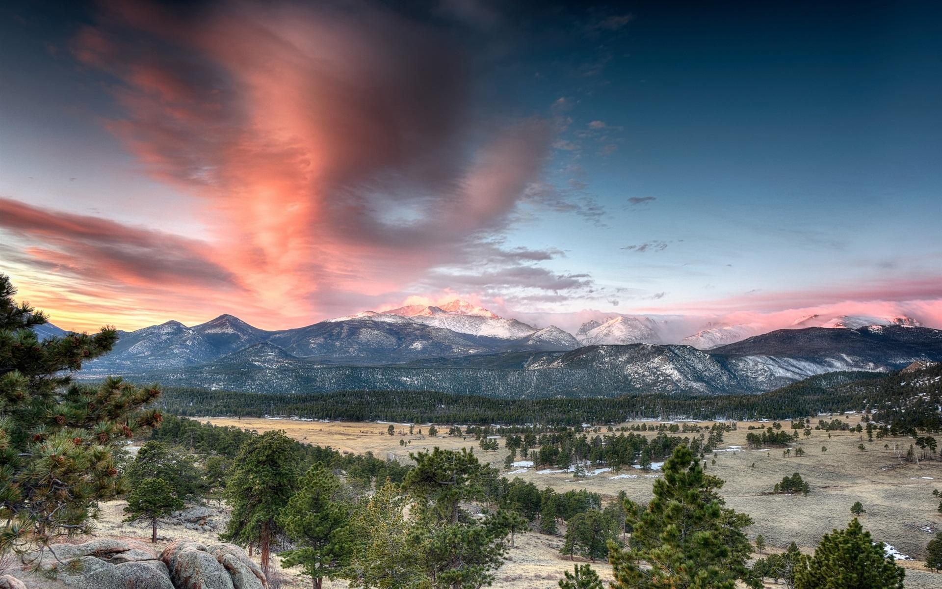 Wallpaper Rocky Mountain National Park Colorado USA Mountains