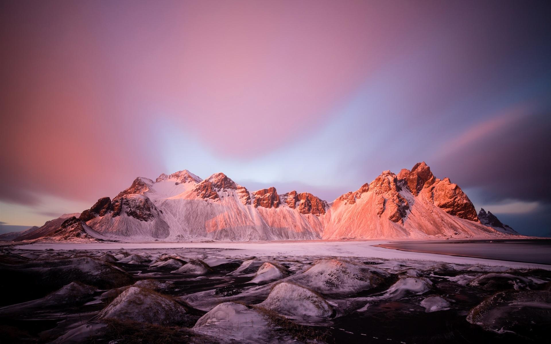 Lago Con Montañas Nevadas Hd: Fondos De Pantalla Invierno, Lago, Nieve, Piedras