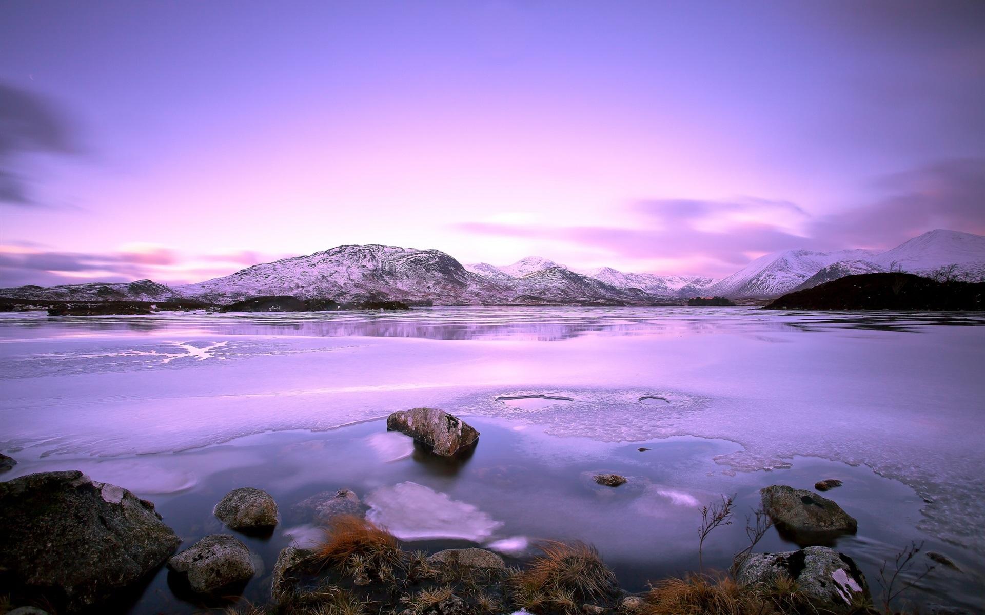 Lago Con Montañas Nevadas Hd: Fondos De Pantalla Lago, Montañas, Piedras, Nieve