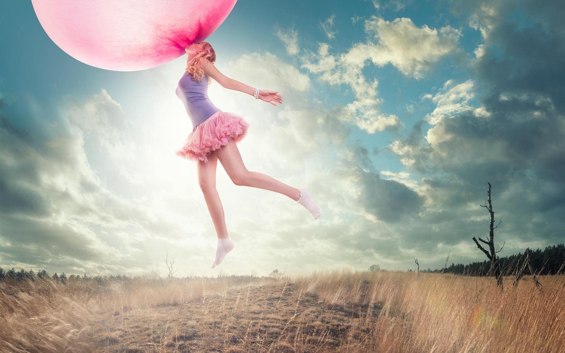 Картинка девушка воздушная фото