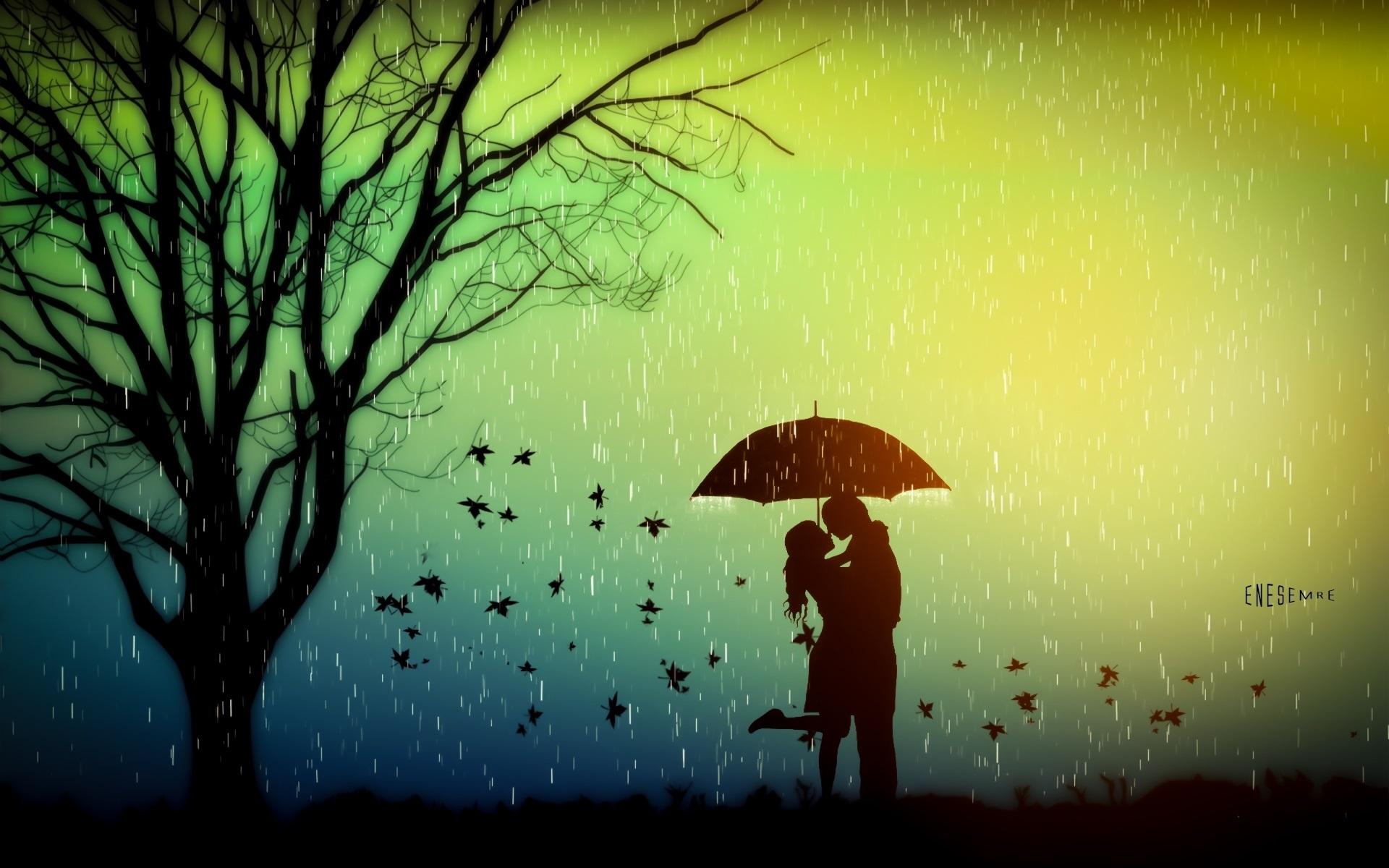 девушка зонт дождь природа  № 3582463 загрузить
