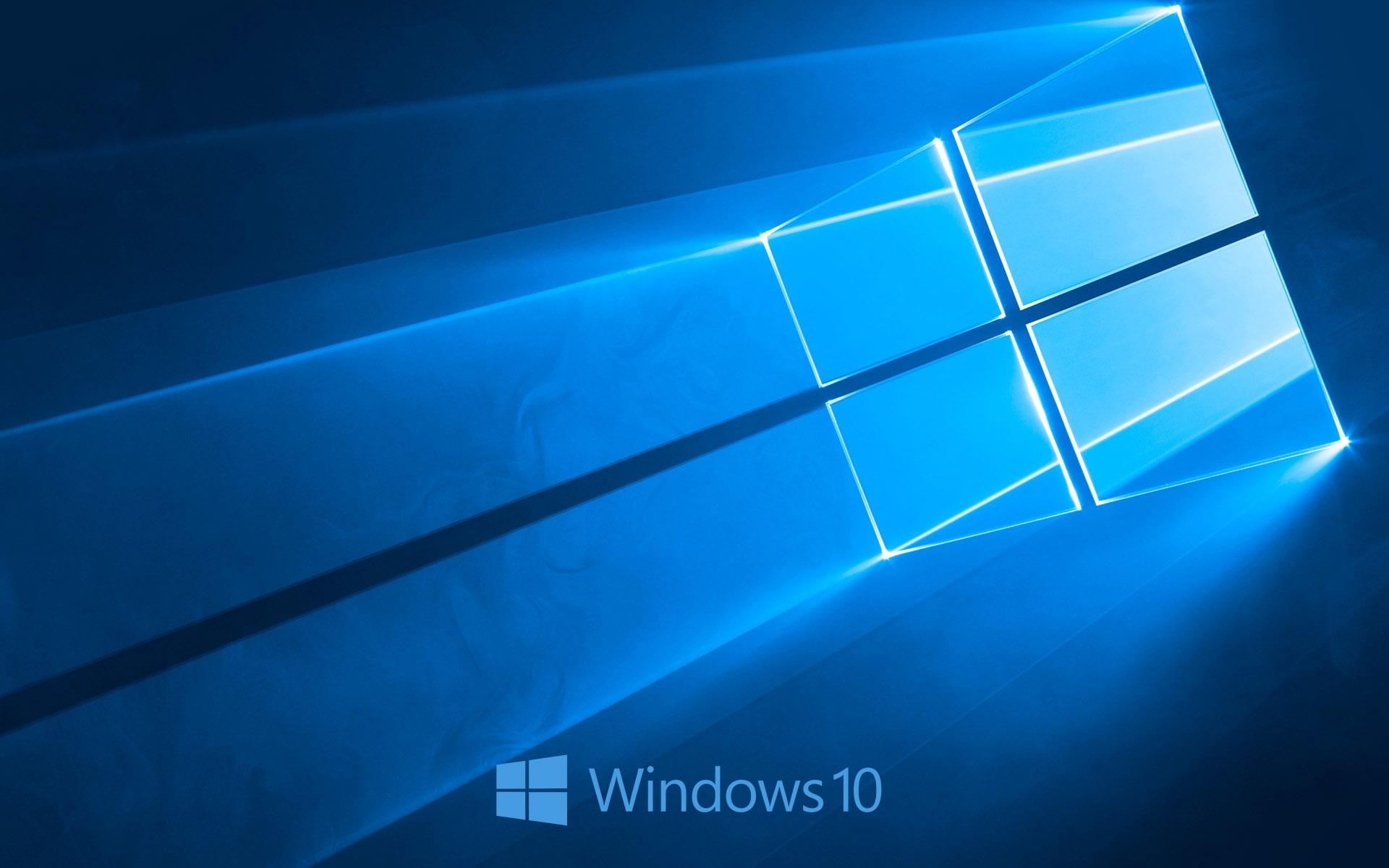 Logotipo de Windows 10 del sistema, estilo azul de fondo