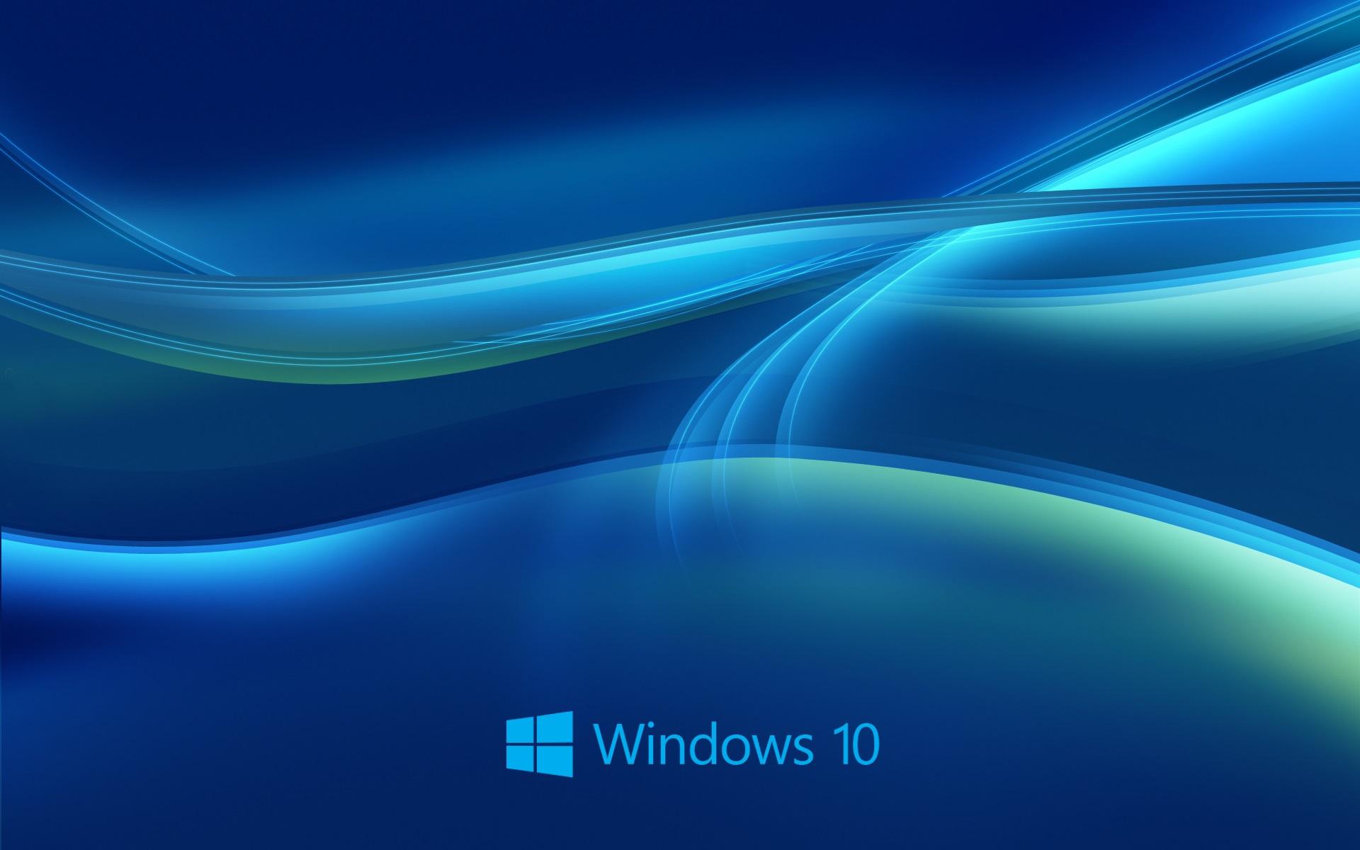 Papéis De Parede Sistema Windows 10, Fundo Azul Abstrato