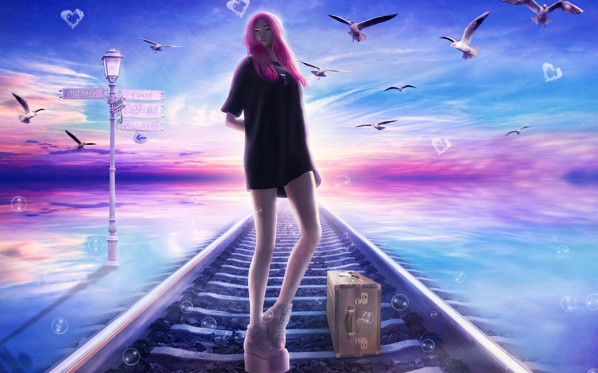 Открытку, открытка девушка мечта