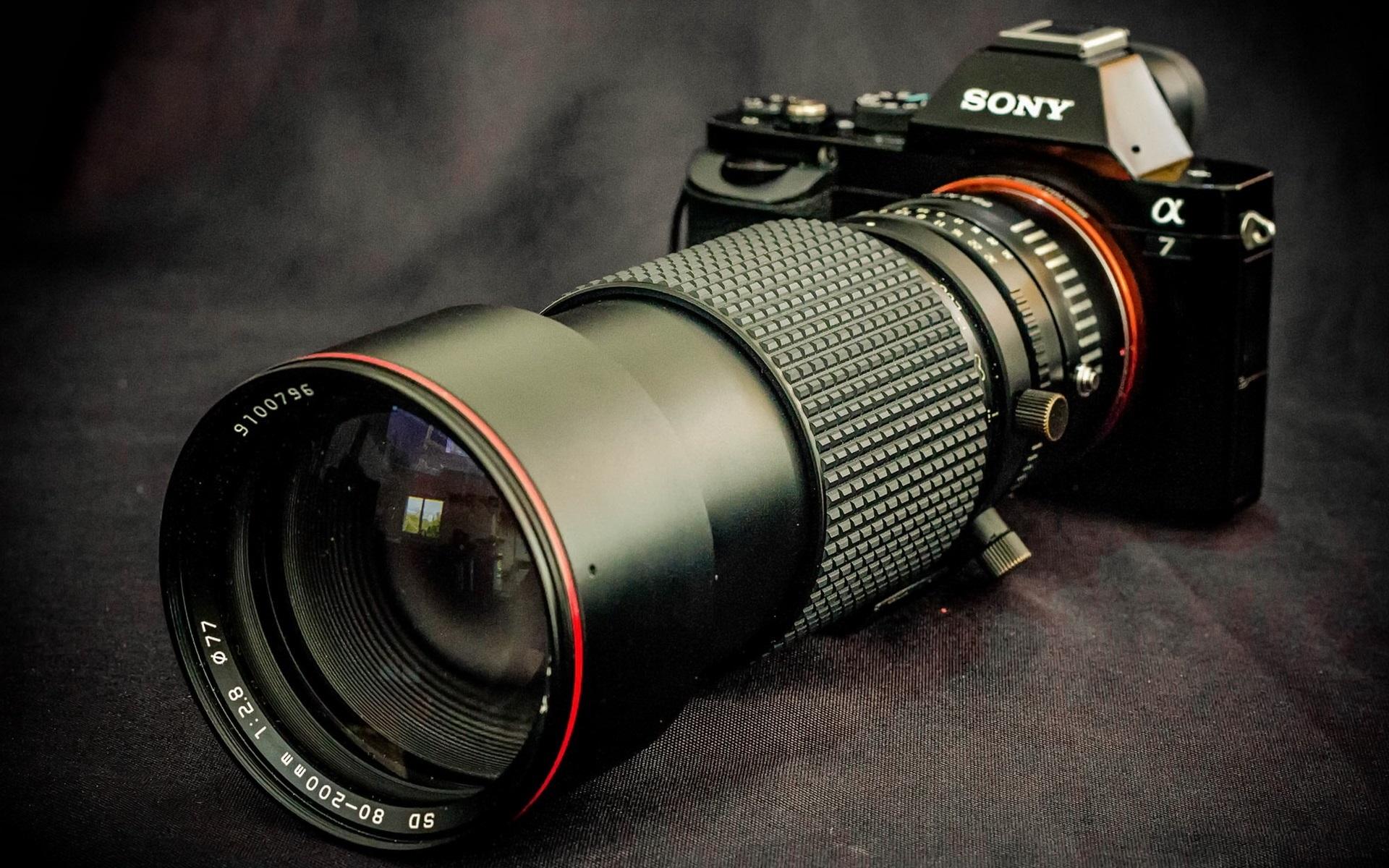 索尼a7数码相机,长焦镜头 桌布 | 1920x1200 桌布下载