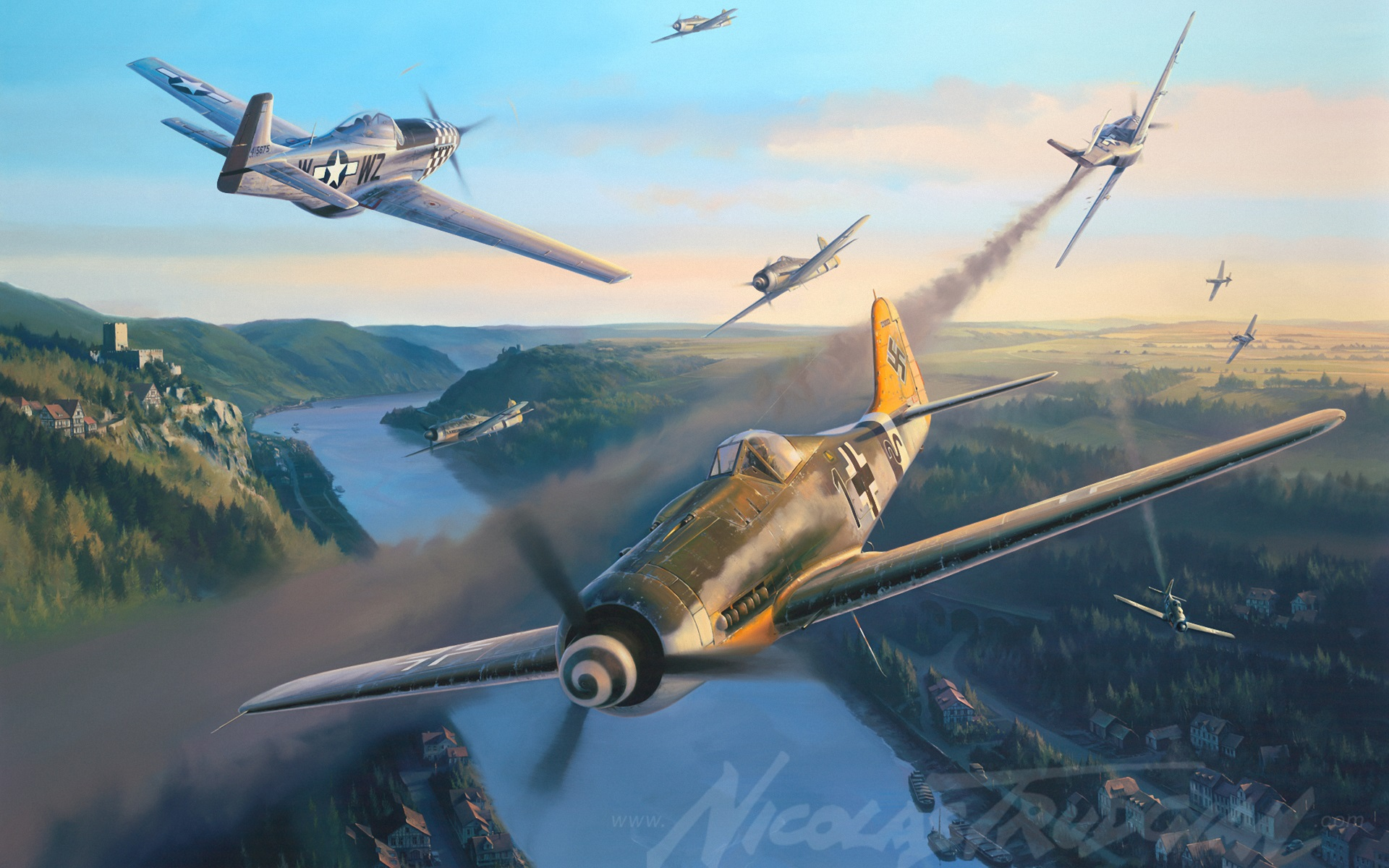 Wallpaper nicolas trudgian german fighter art painting 1920x1200 download this wallpaper thecheapjerseys Images