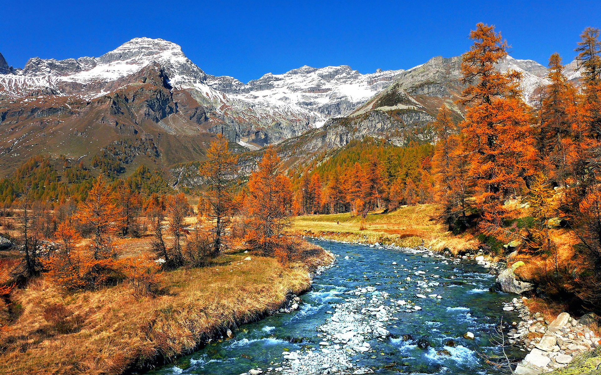 foto de Fonds d'écran Italie nature paysage arbres neige