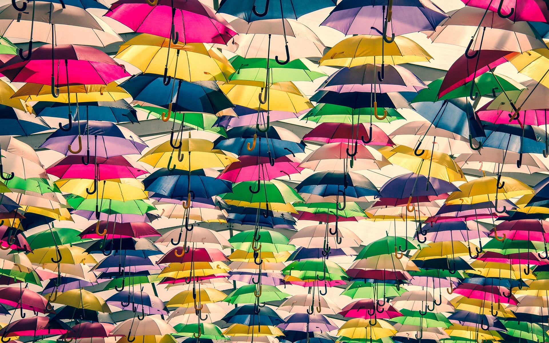 Fondos De Pantalla Muchos Paraguas Coloridos 1920x1200 HD