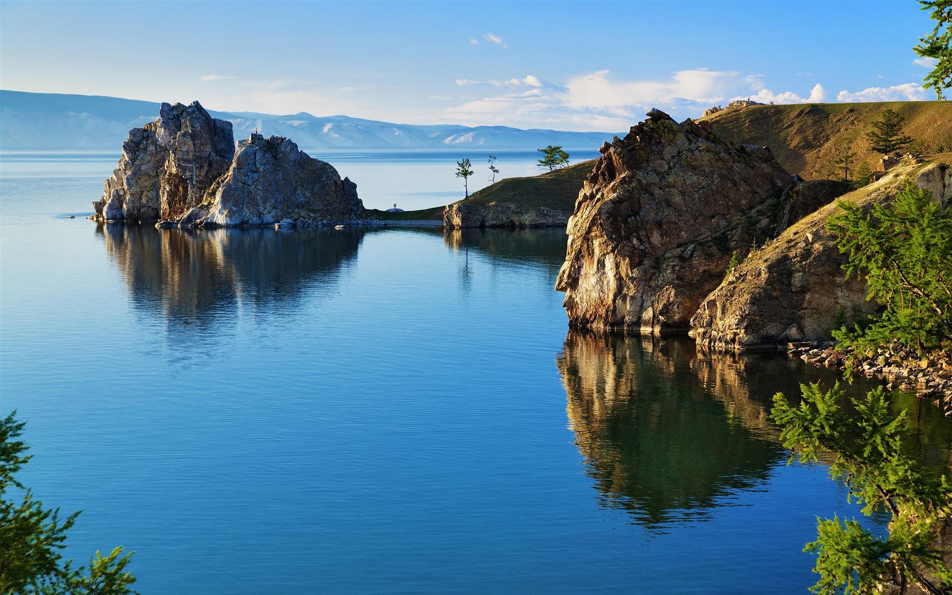 Fonds d 39 cran russie nature paysage ba kal lac rochers 3840x2160 uhd 4k image - 4k wallpaper russia ...