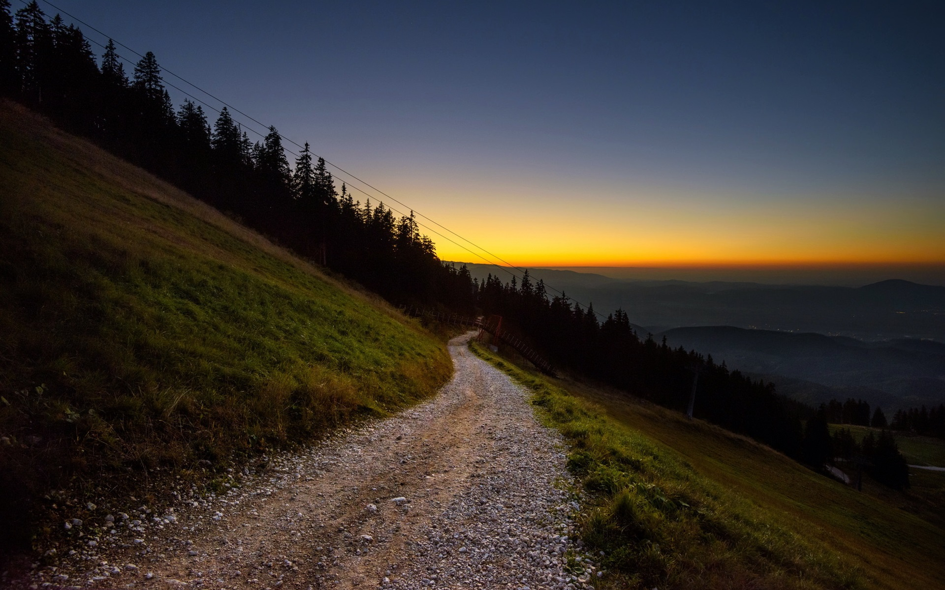 закат склон sunset the slope  № 1569290 без смс