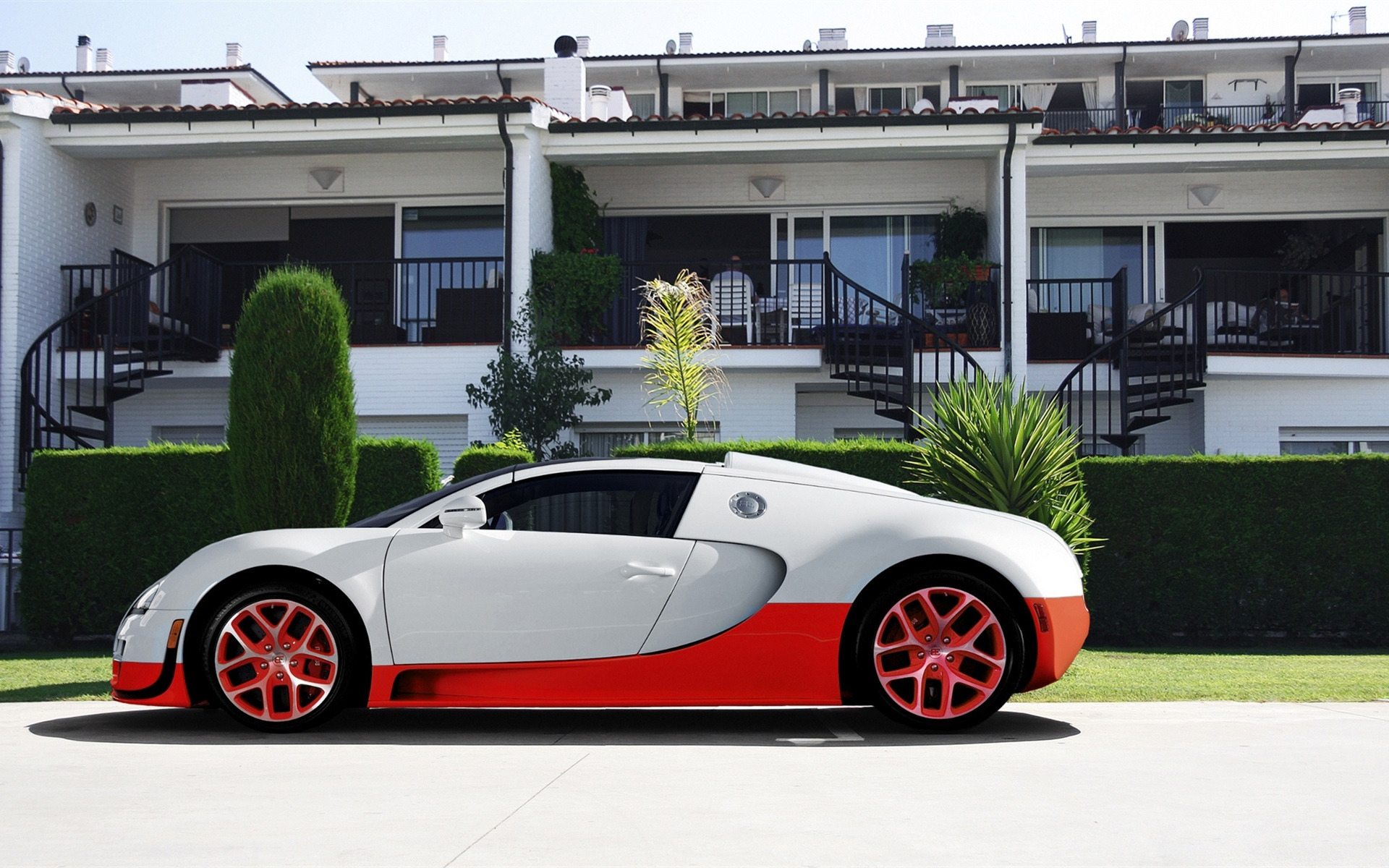 bugatti veyron supercar cor branca e vermelha pap is de. Black Bedroom Furniture Sets. Home Design Ideas