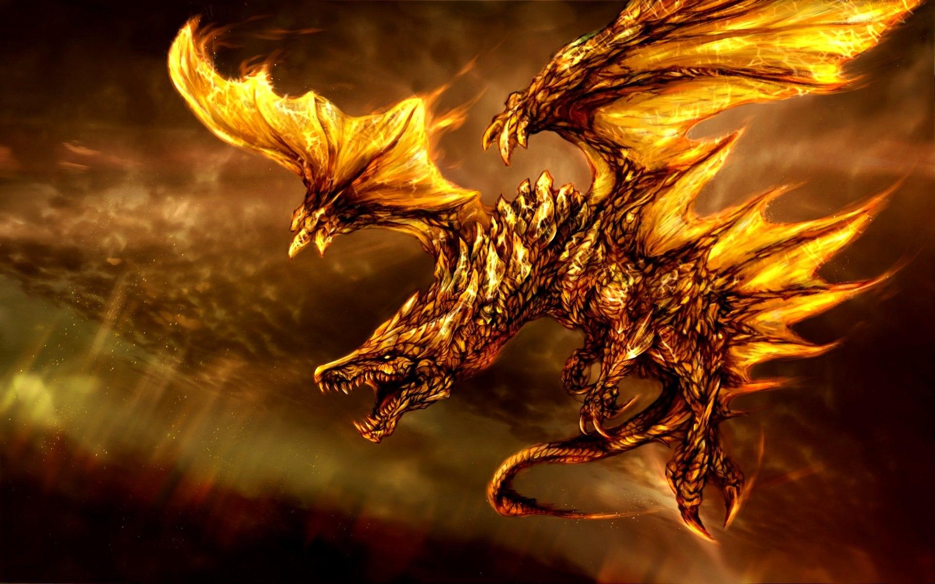Fonds Décran Fantasy 3d Dragon Feu Ailes 1920x1200 Hd Image