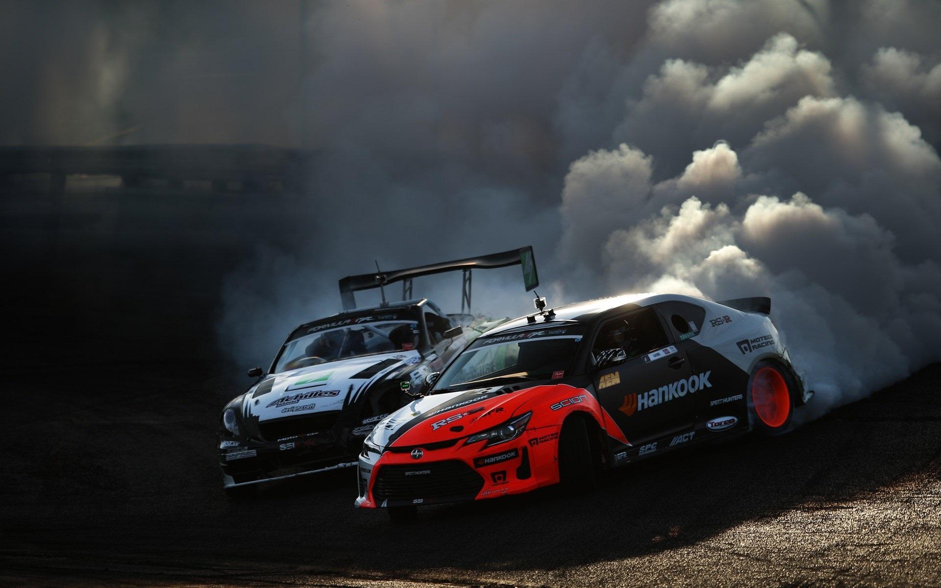 壁紙 レースカー ドリフト 喫煙 19x10 Hd 無料のデスクトップの背景 画像