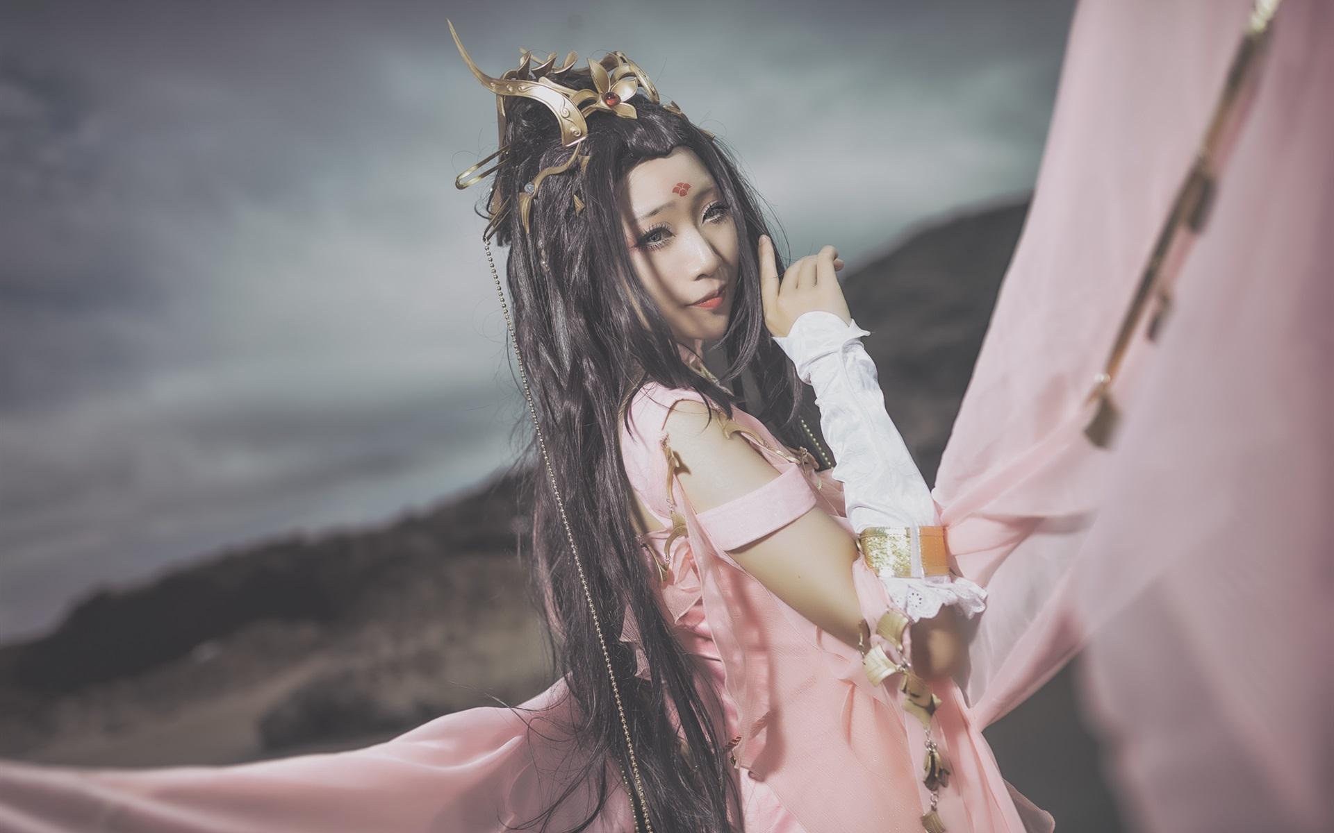 壁紙 アジアの女の子 レトロスタイルのドレス 1920x1200 Hd 無料の