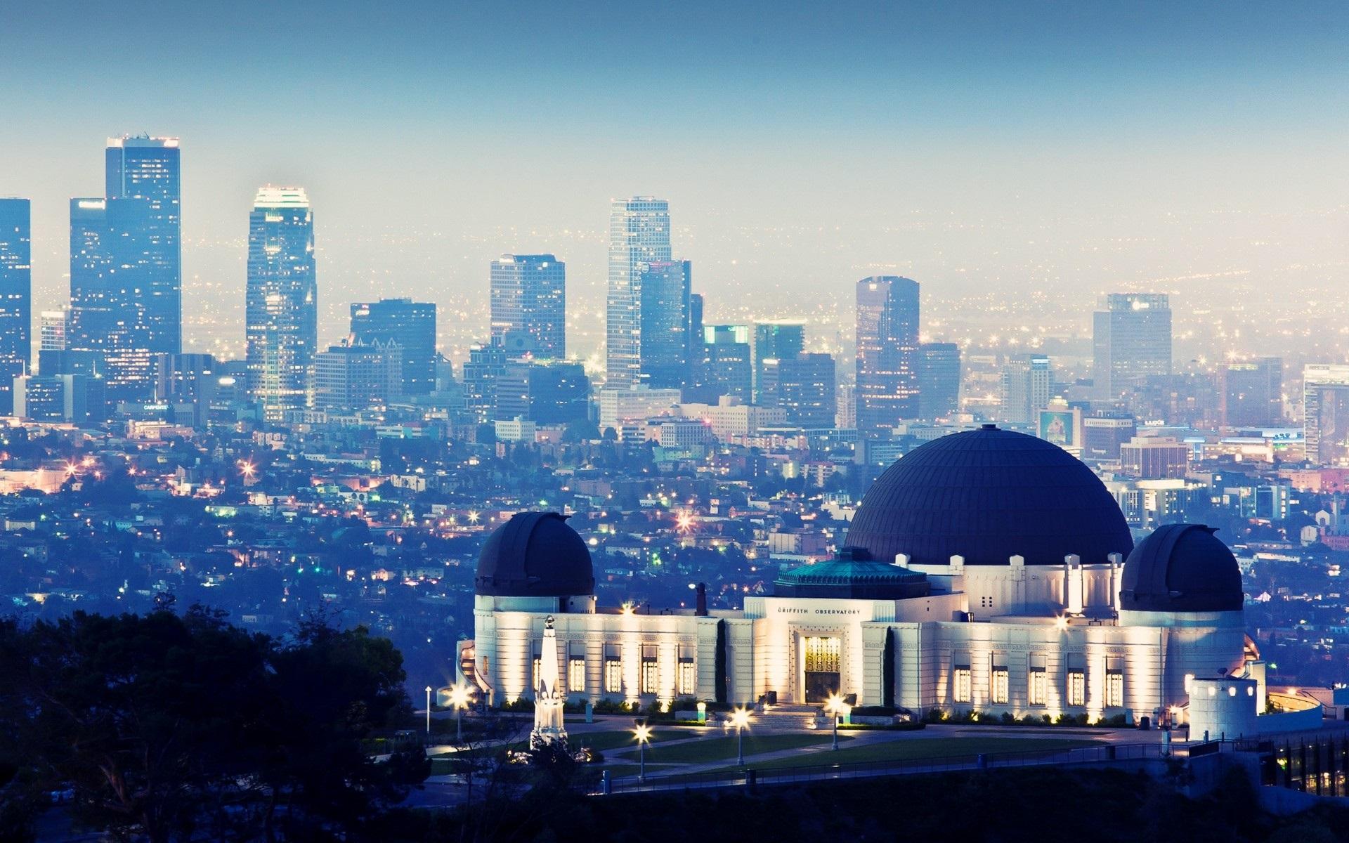 壁紙 グリフィス天文台 高層ビル 夜 ライト ロサンゼルス アメリカ 19x10 Hd 無料のデスクトップの背景 画像