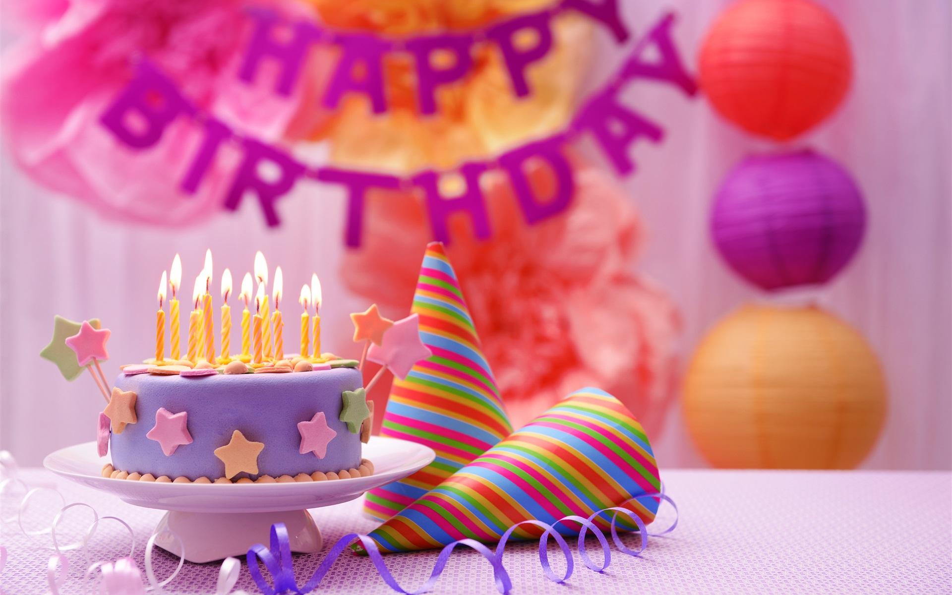 Fondos De Pantalla Feliz Cumpleaños, Pastel, Decoración