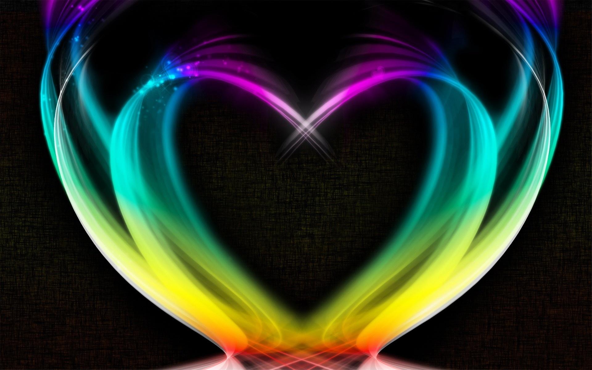 Wallpaper Abstract Love Heart Colorful Smoke Creative 1920x1200 Hd