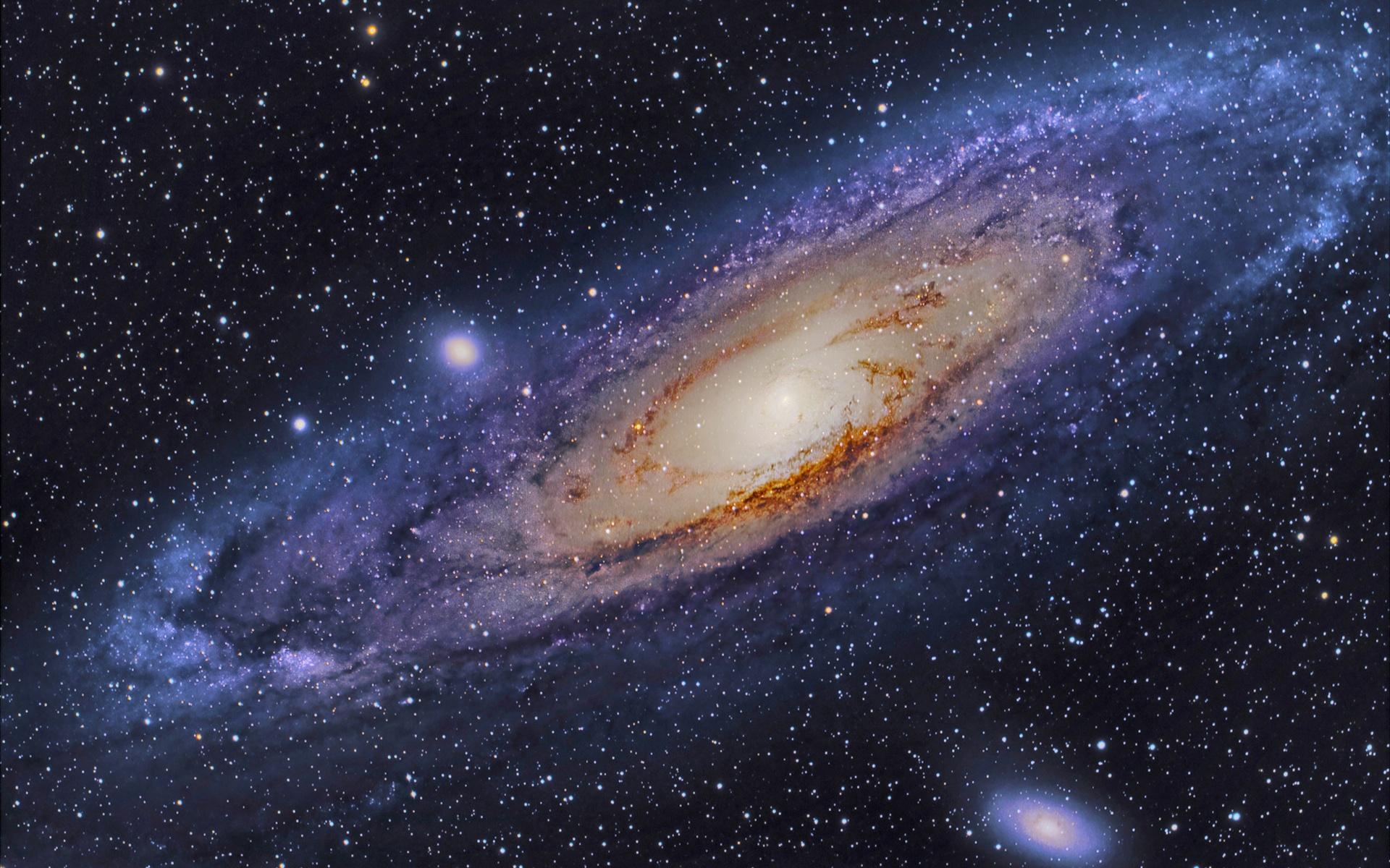 Fonds d'écran Galaxy Andromeda, étoiles, espace 1920x1200 HD image