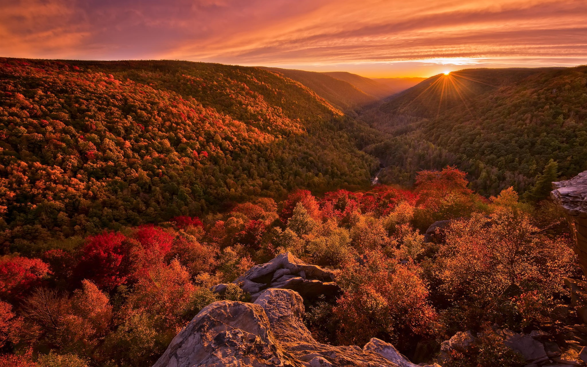 foto de Fonds d'écran Beau paysage d'automne, montagne, forêt, coucher de ...