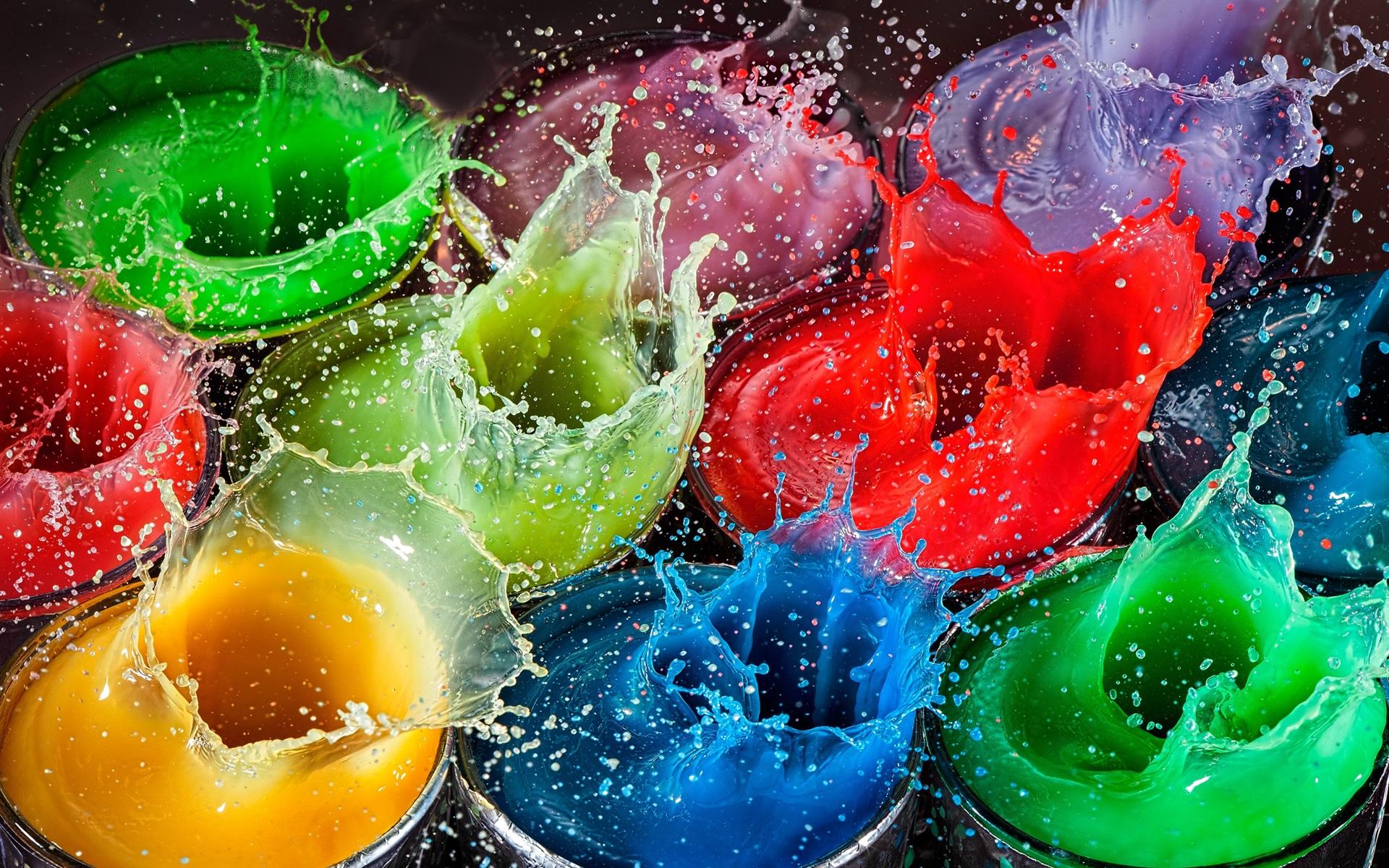 картинки с яркими красками на телефон это