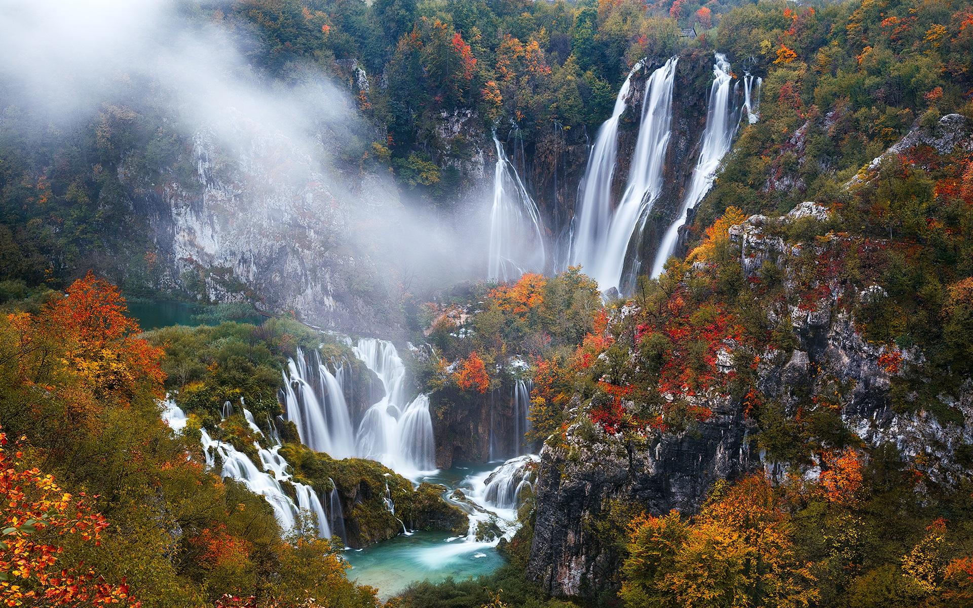 Download wallpaper 1920x1200 croatia plitvice lakes national park beautiful waterfalls autumn - Plitvice lakes hd ...
