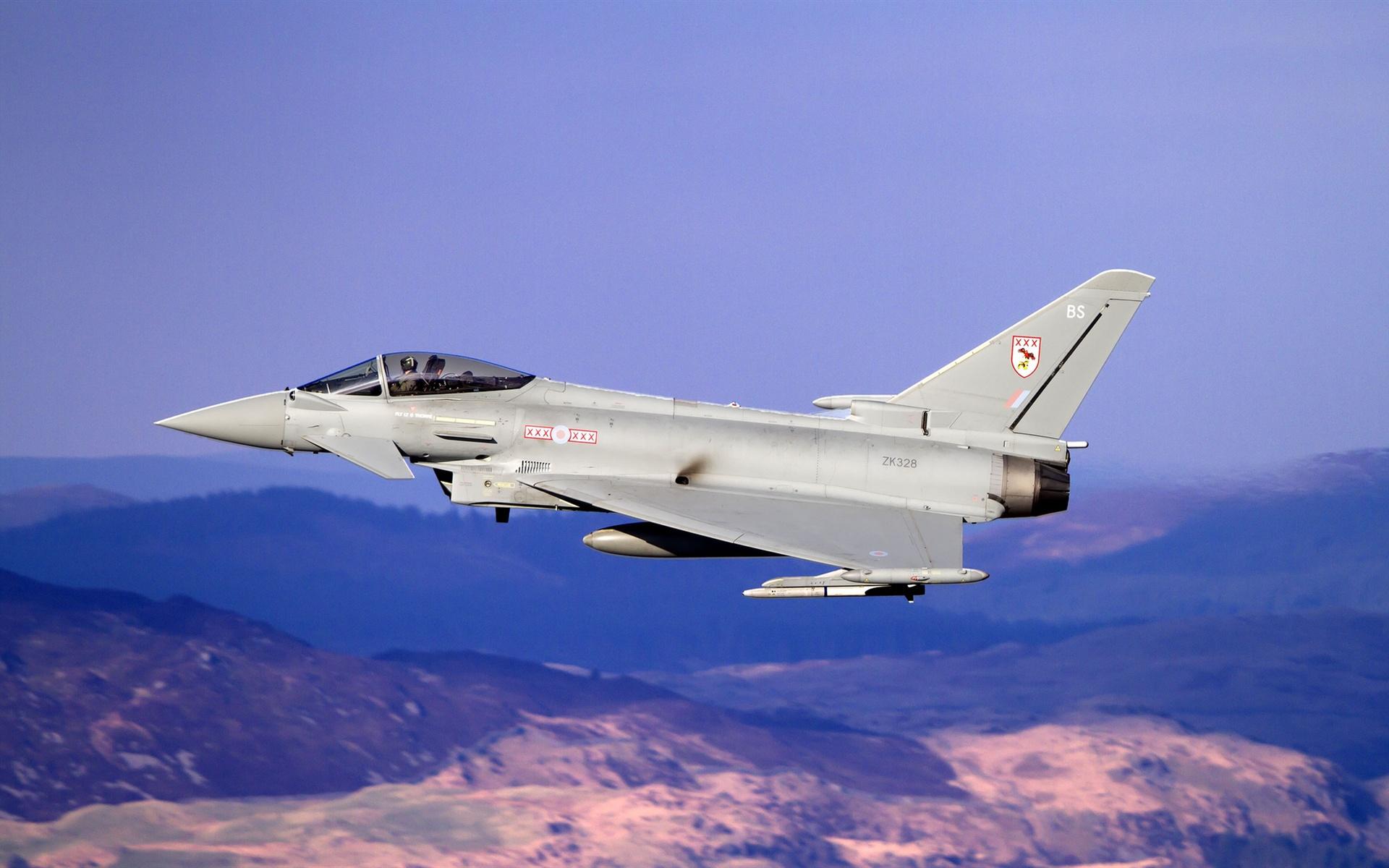 wallpaper eurofighter typhoon multipurpose fighter flight 1920x1200