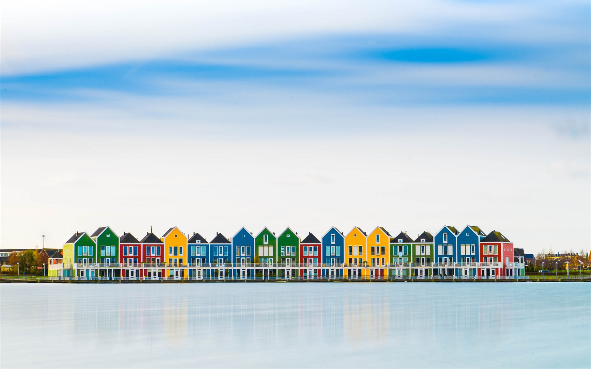 wallpaper netherlands colorful houses