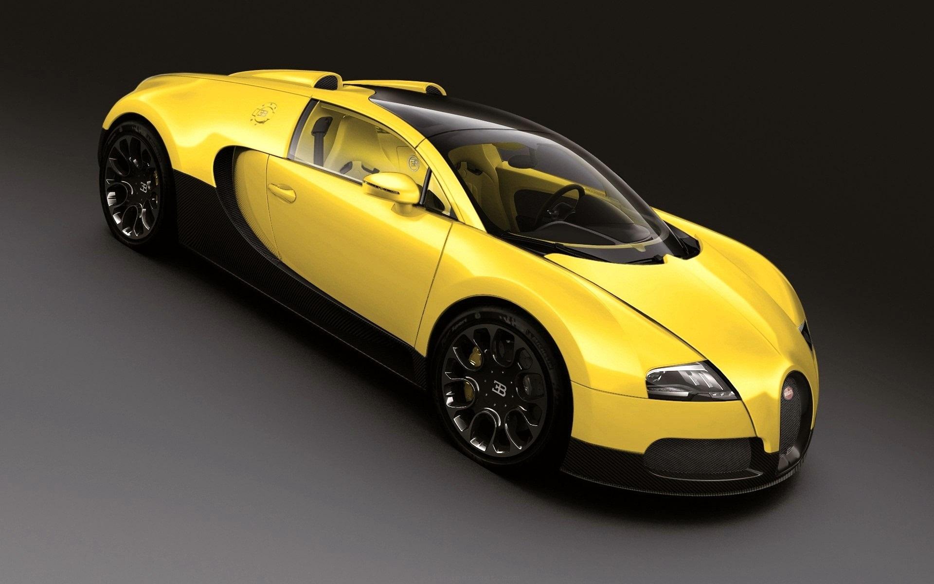 Wallpaper Bugatti Veyron Yellow Supercar 1920x1200 Hd Picture Image