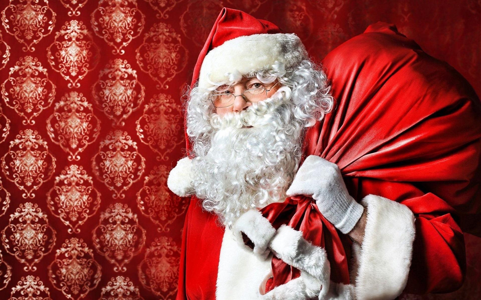 Weihnachten Hd Bilder.Weihnachtsmann Brille Geschenktüte Weihnachten 1920x1200 Hd