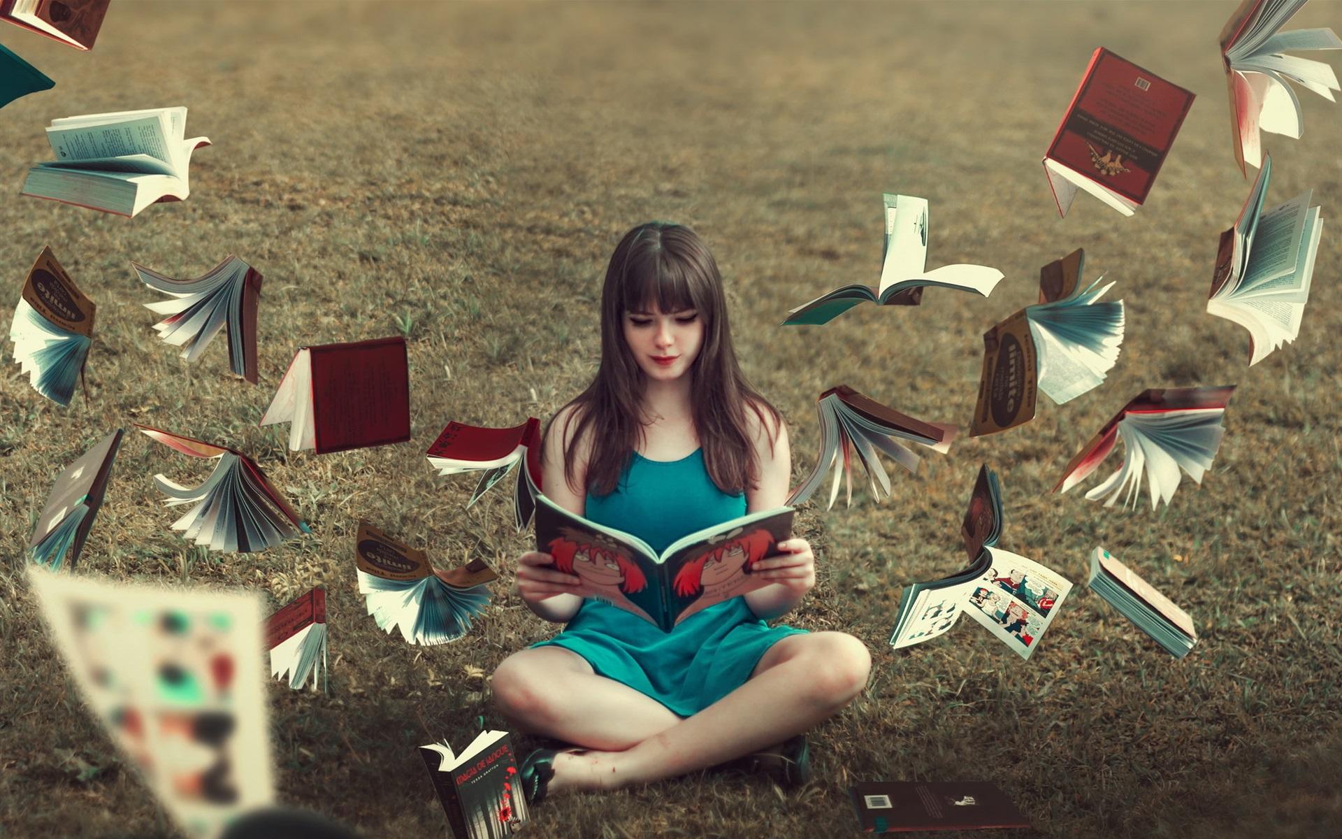 Картинка девушка читает книгу на аву